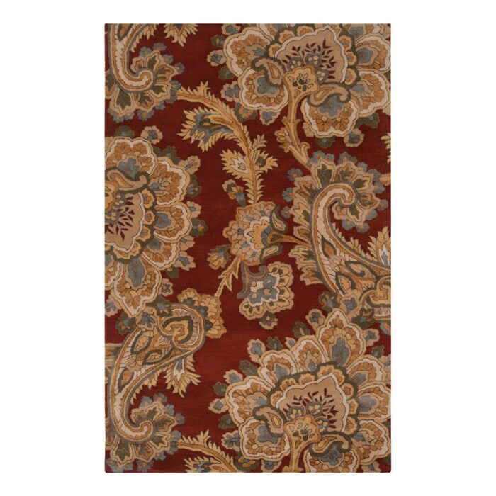 Busch Rust & Red Area Rug Rug Size: Rectangle 5' x 8'