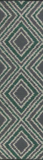 Halycon Winter White/Emerald Green Area Rug Rug Size: Rectangle 8' x 11'