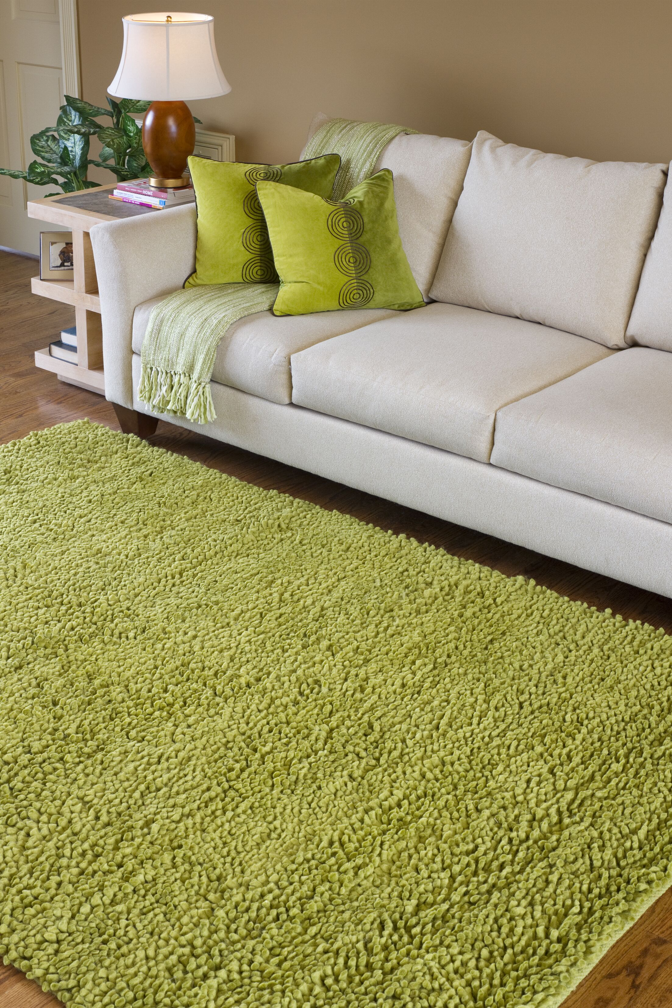 Bonney Hand Woven Wool Green Area Rug Rug Size: Rectangle 9' x 13'