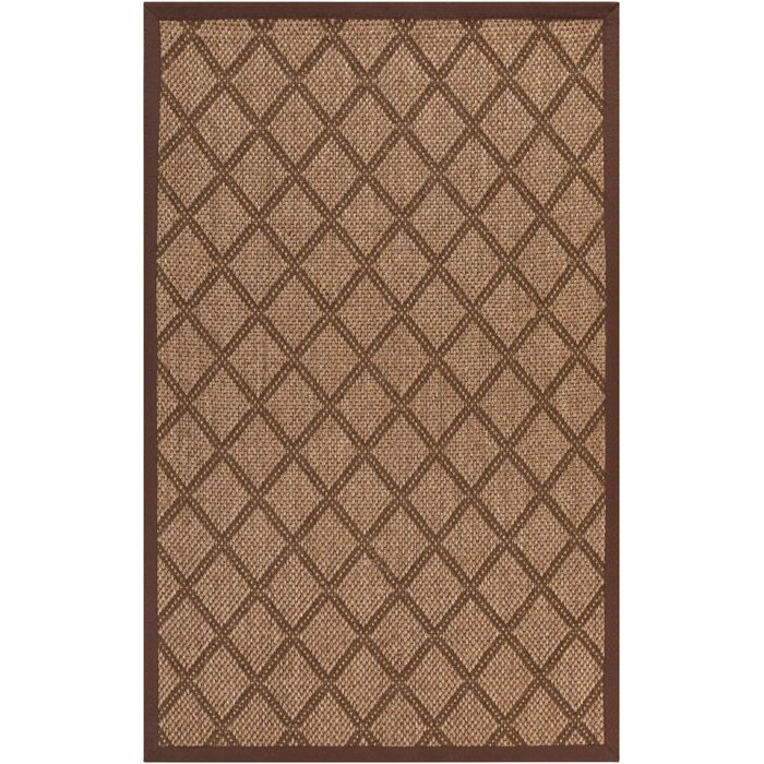 Tomoe Golden Brown Area Rug Rug Size: Rectangle 9' x 13'