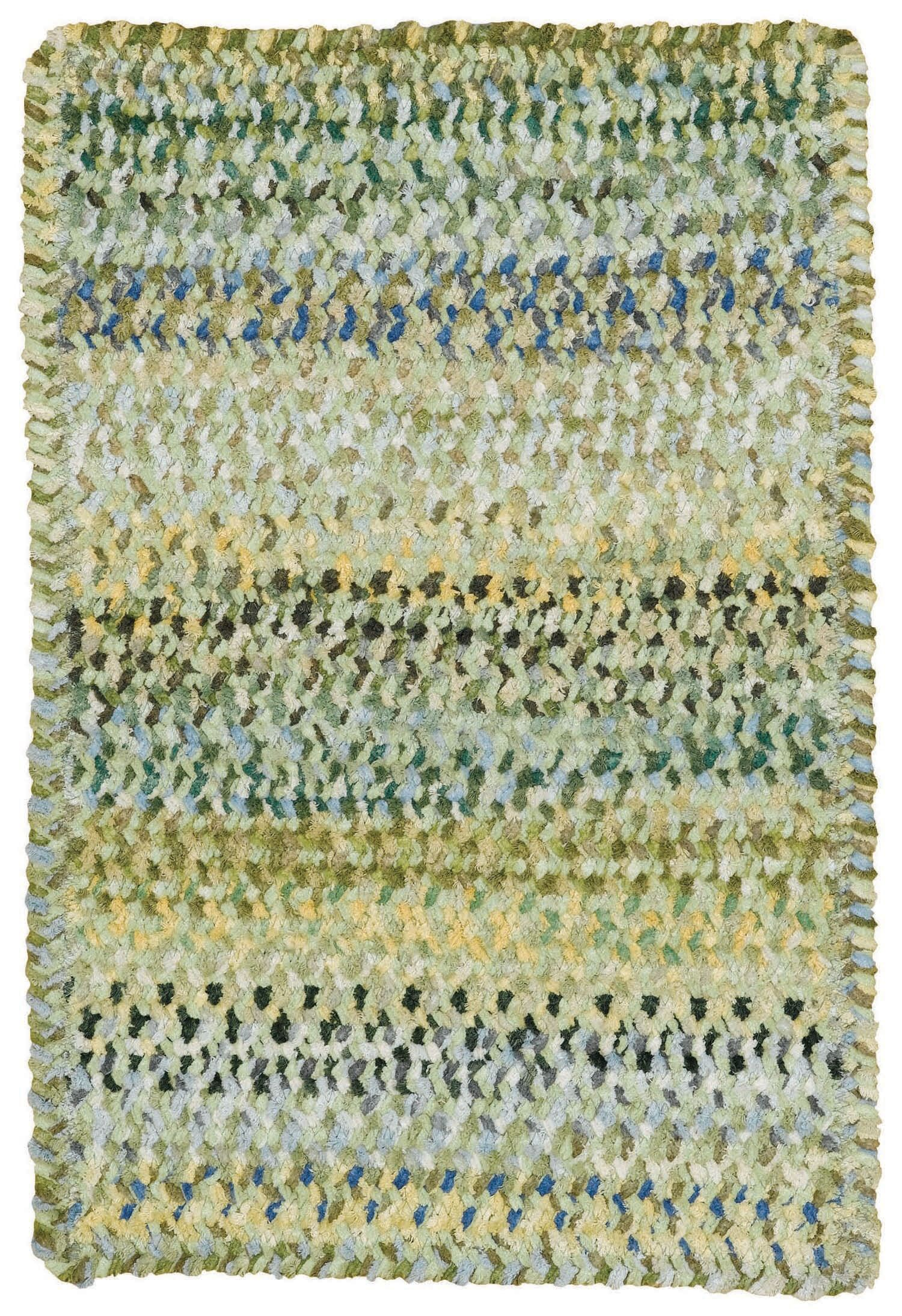 Wilhelmine Pale Green Area Rug Rug Size: Cross Sewn Square 9'6