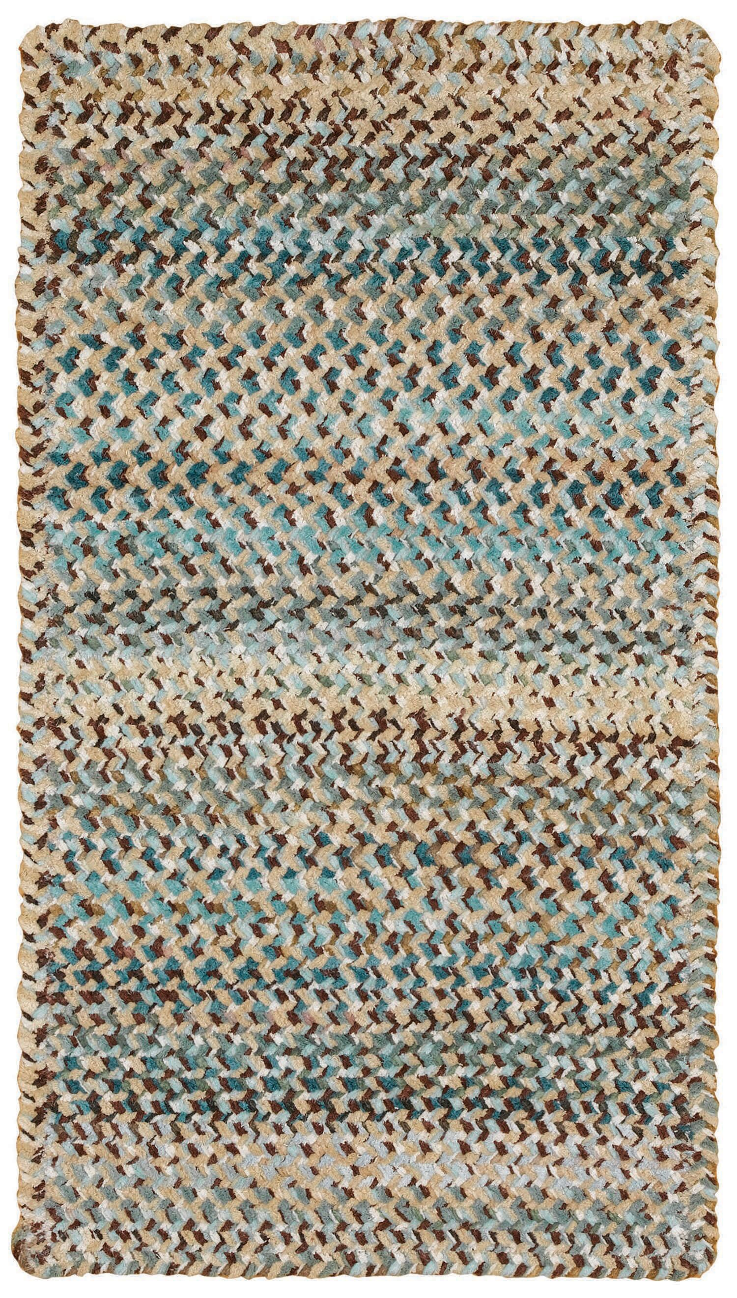 Wilhelmine Deep Blue Area Rug Rug Size: Cross Sewn 7' x 9'