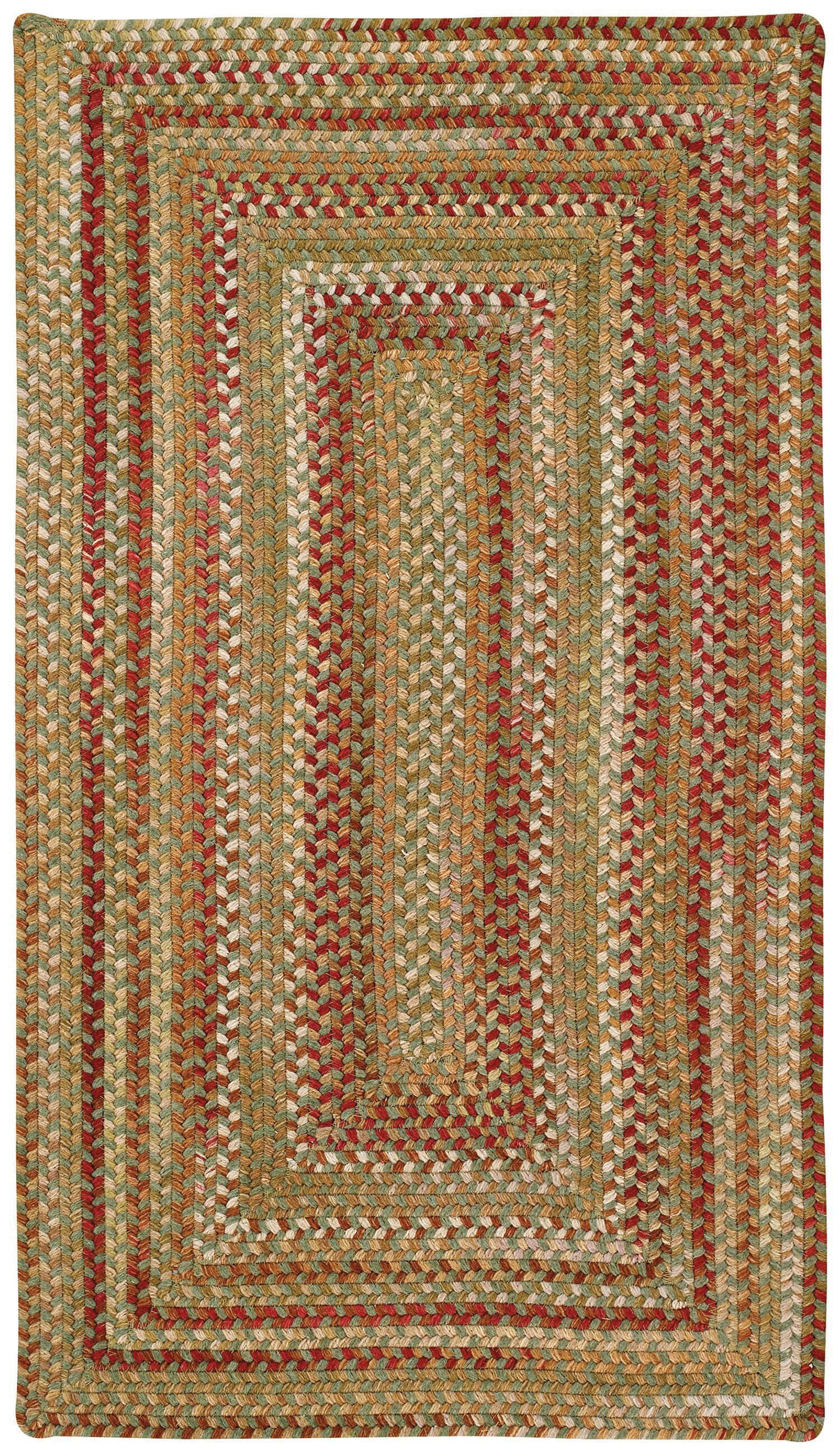 Holcombe Sage Red Hues Area Rug Rug Size: Concentric Square 3'