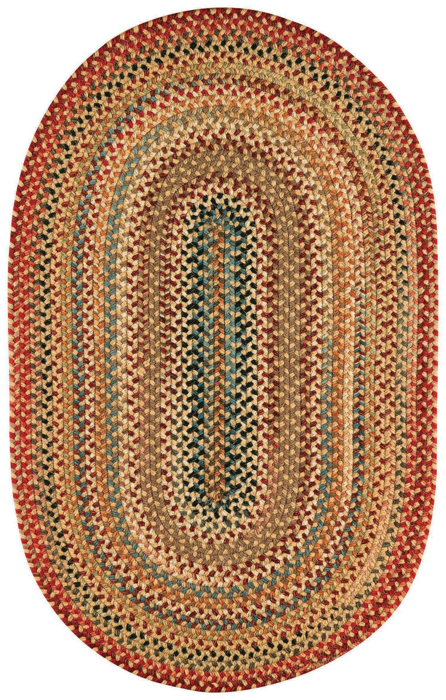 Burdock Gold Variegated Area Rug Rug Size: Runner 2'3
