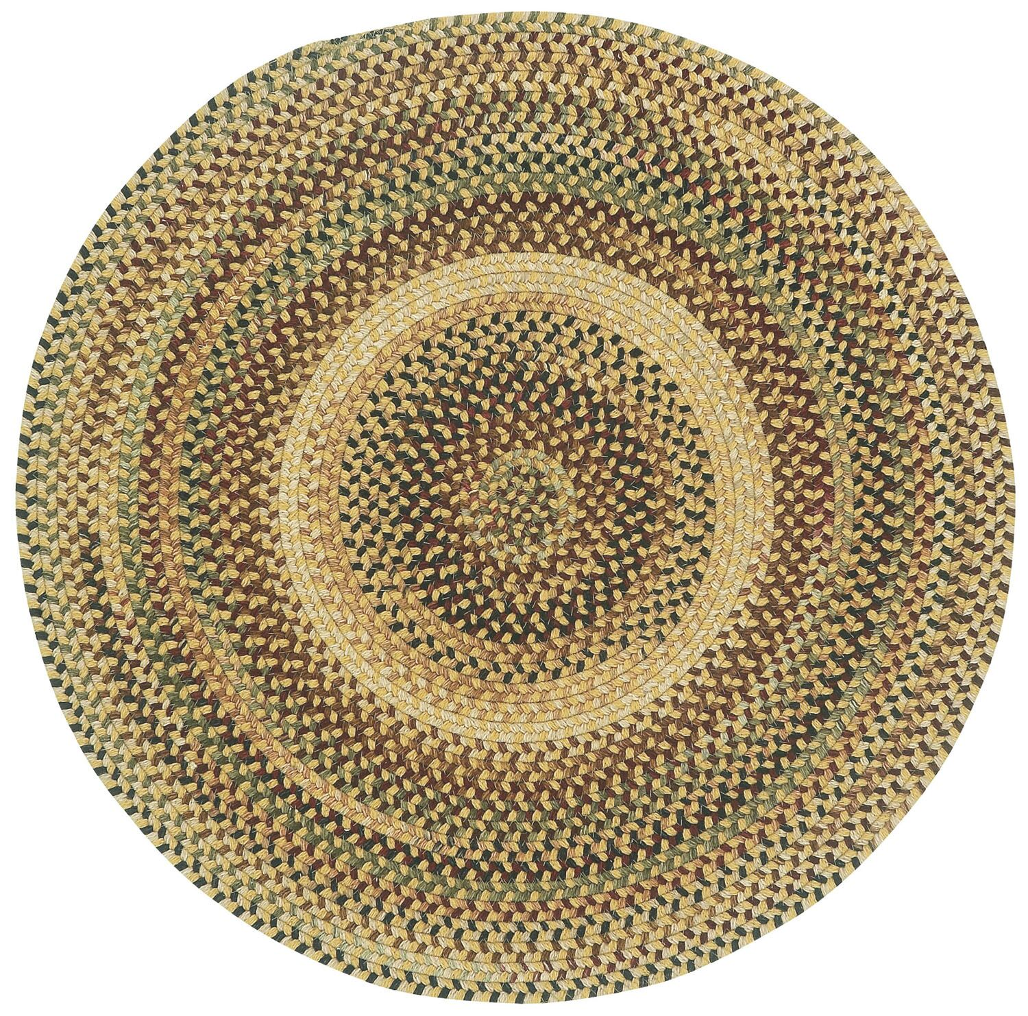 Fort Lupton Amber Variegated Area Rug Rug Size: Round 1'3