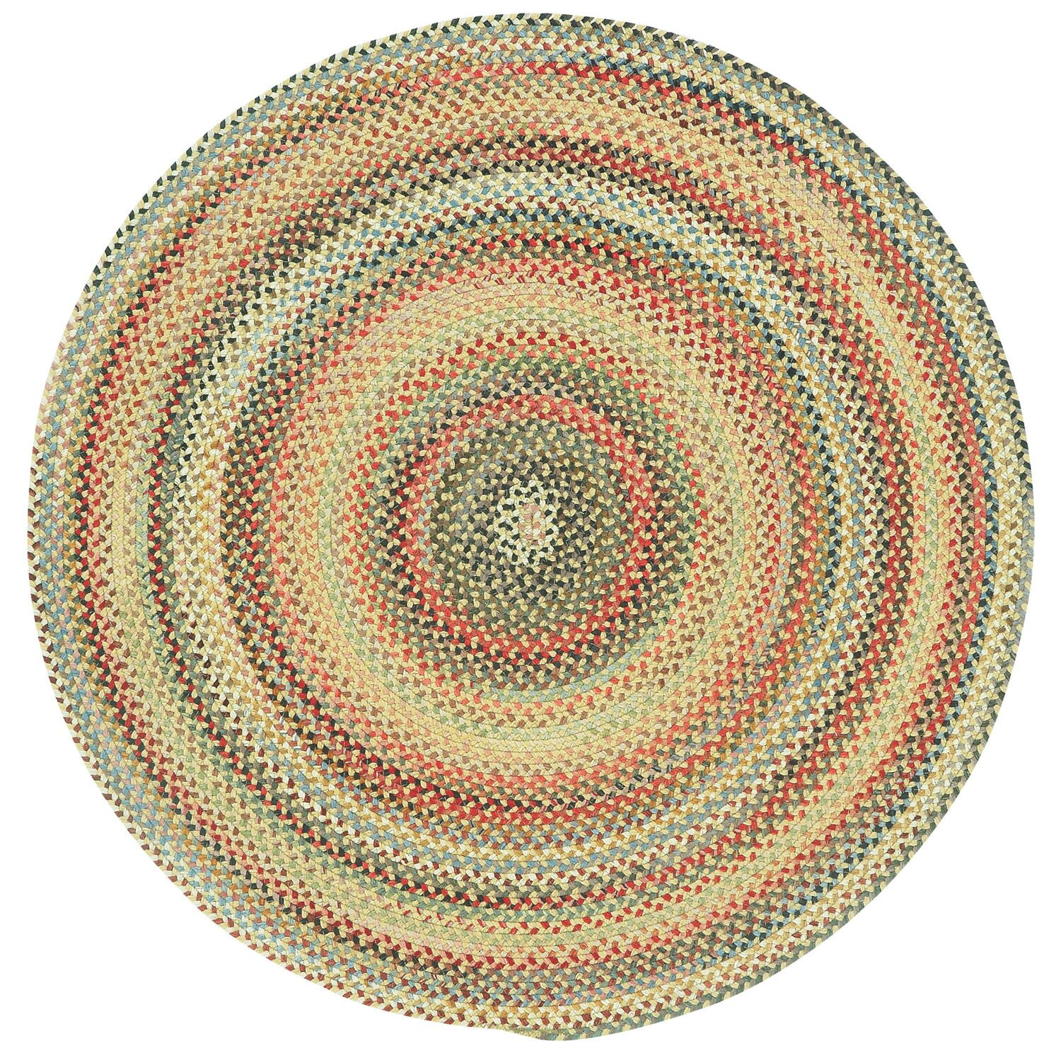 Burdock Gold Variegated Area Rug Rug Size: Round 3'