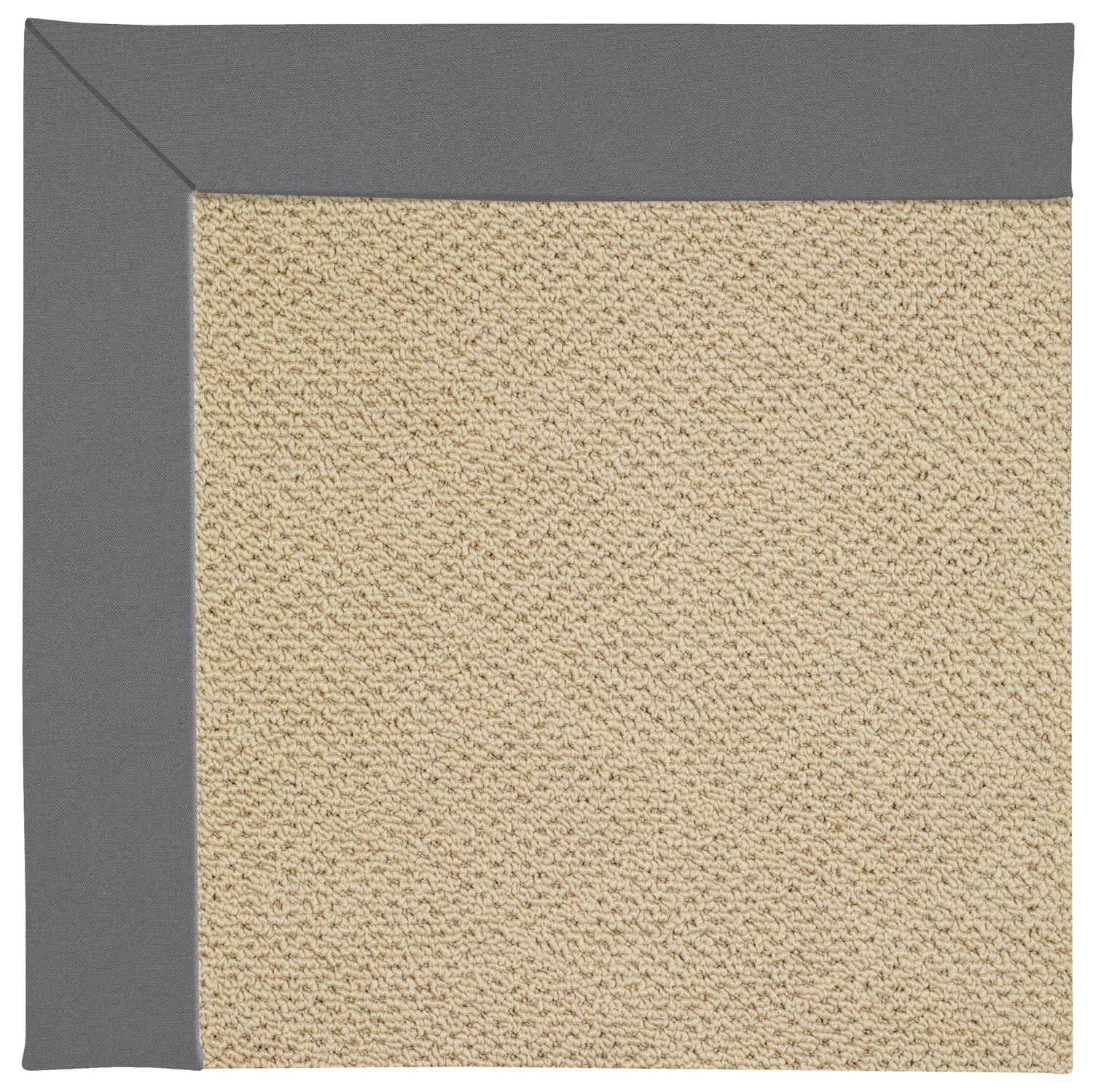 Lisle Machine Tufted Ash/Brown Indoor/Outdoor Area Rug Rug Size: Round 12' x 12'