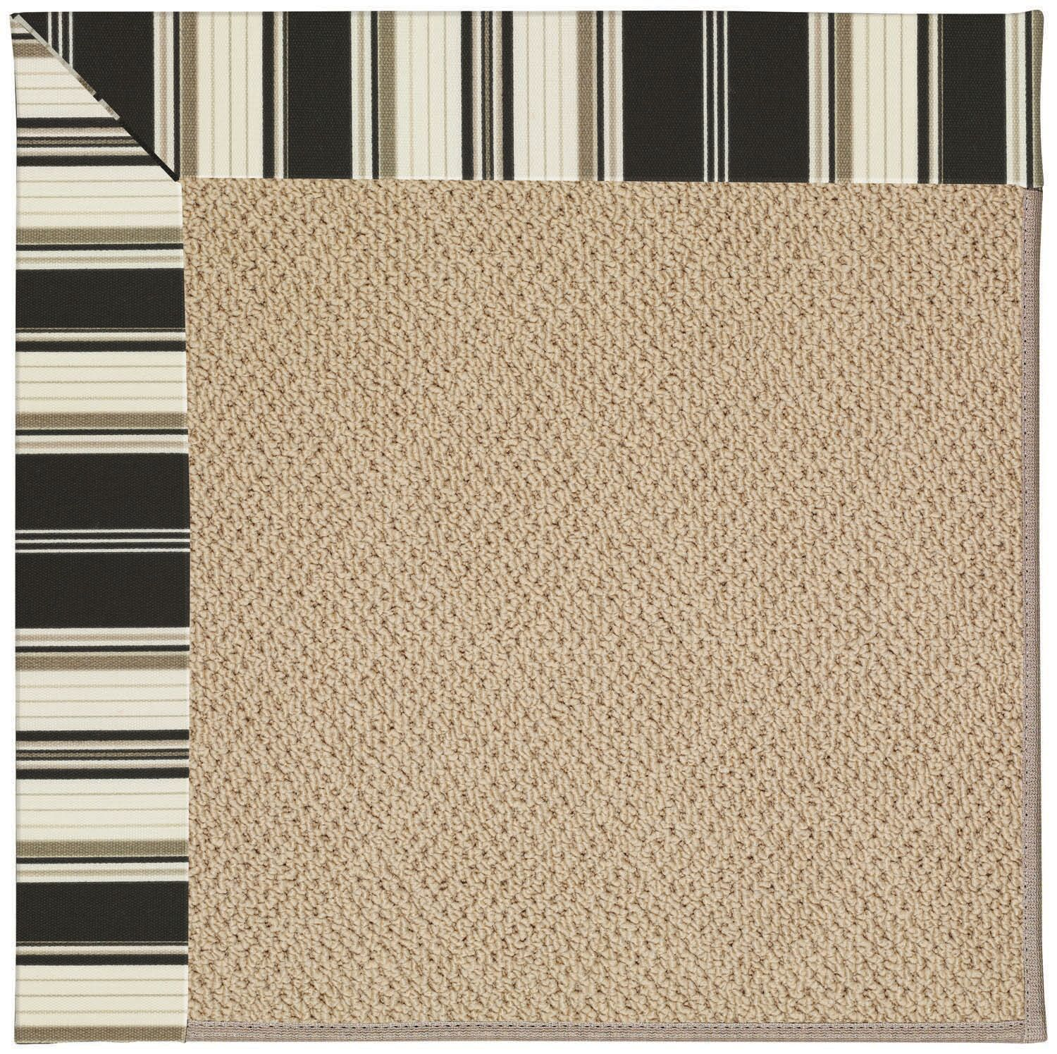 Lisle Machine Tufted Onyx/Brown Indoor/Outdoor Area Rug Rug Size: Rectangle 12' x 15'