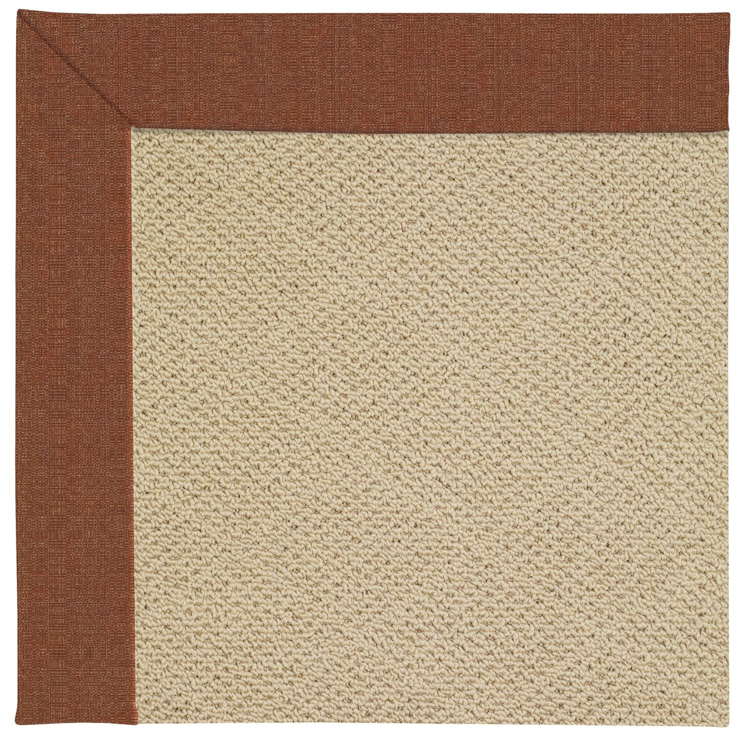 Lisle Machine Tufted Dried Chilis/Beige Indoor/Outdoor Area Rug Rug Size: Square 10'