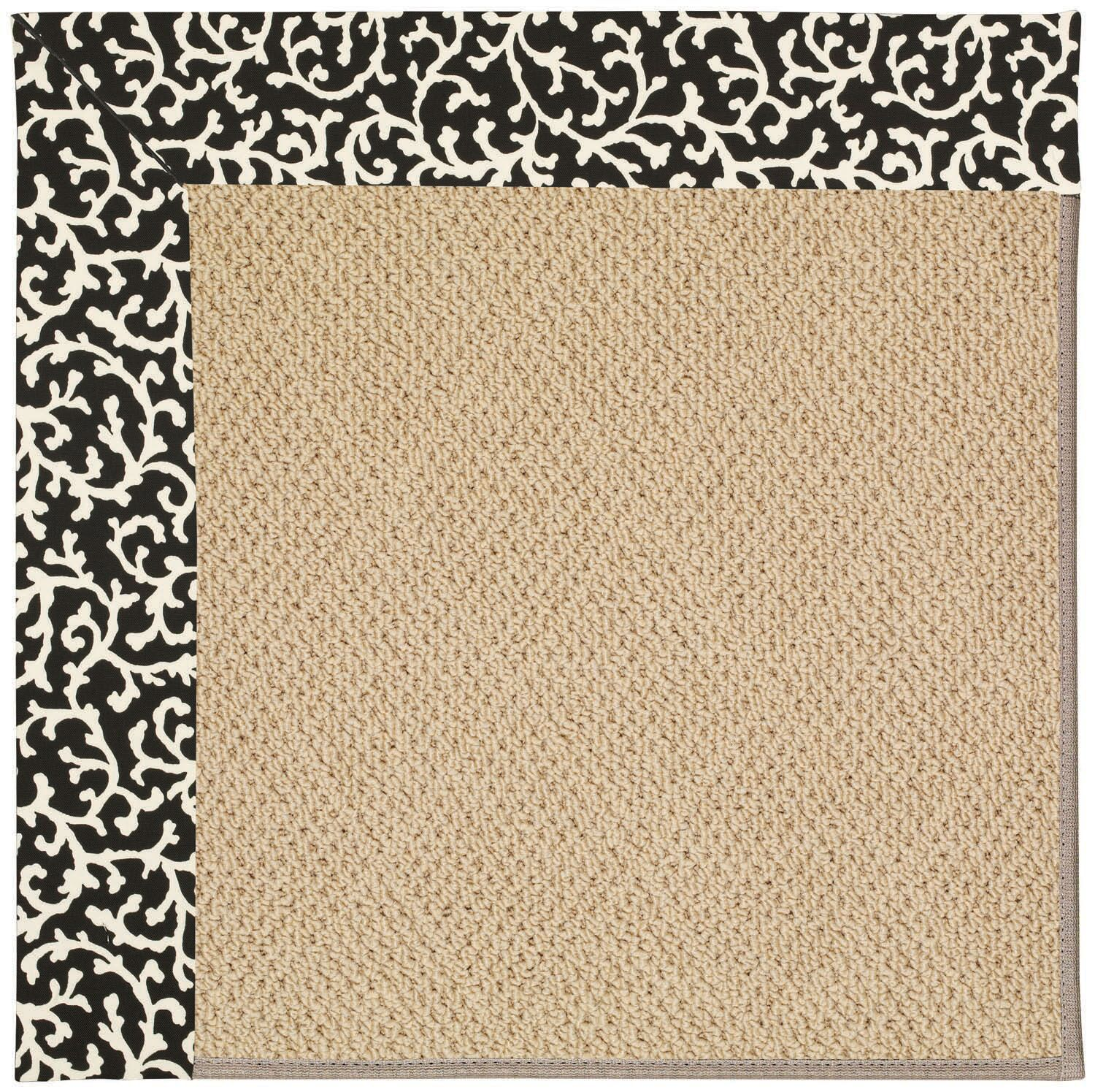 Lisle Machine Tufted Black Cascade and Beige Indoor/Outdoor Area Rug Rug Size: Rectangle 9' x 12'