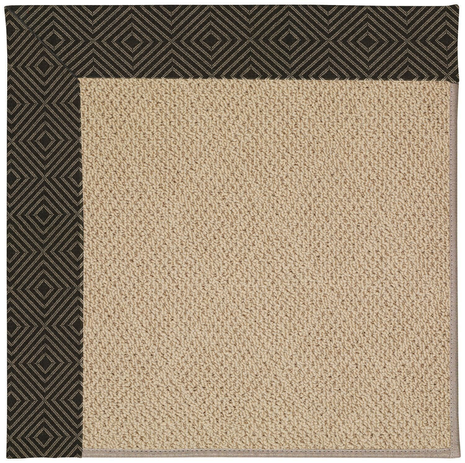 Lisle Machine Tufted Magma/Brown Indoor/Outdoor Area Rug Rug Size: Square 8'
