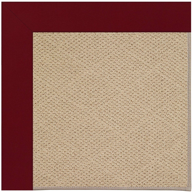 Lisle Machine Tufted Red/Beige Indoor/Outdoor Area Rug Rug Size: Rectangle 7' x 9'