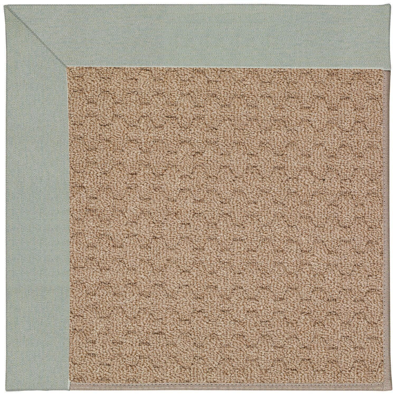 Lisle Machine Tufted Marine Blue and Beige Indoor/Outdoor Area Rug Rug Size: Square 4'