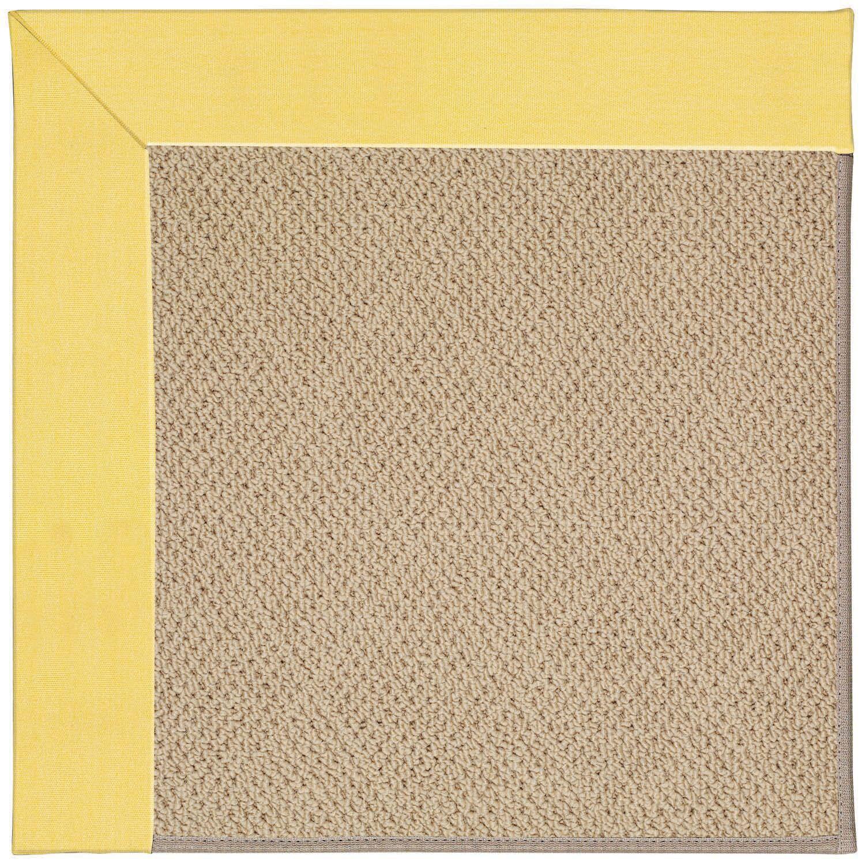 Lisle Machine Tufted Yellow/Brown Indoor/Outdoor Area Rug Rug Size: Round 12' x 12'