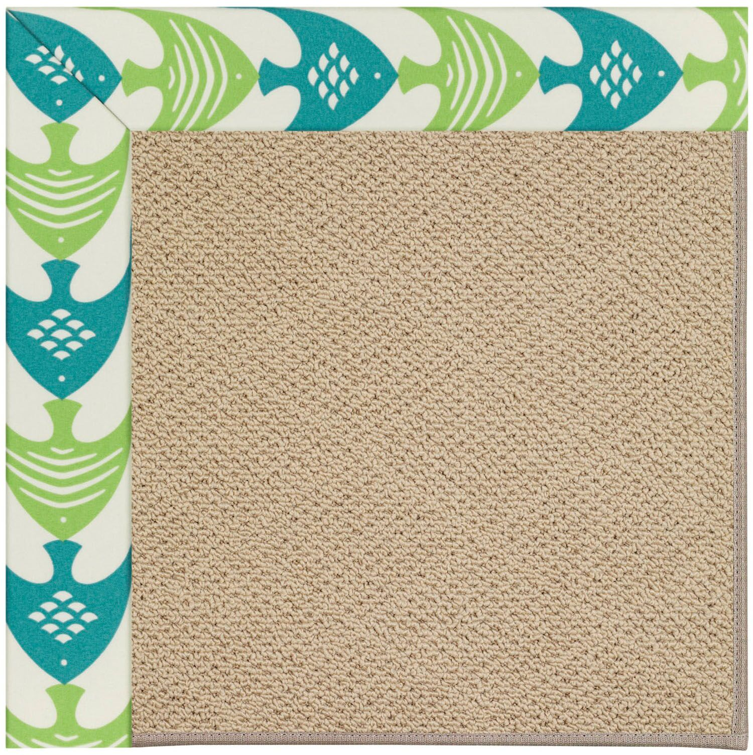 Lisle Machine Tufted Angel Fish Green/Brown Indoor/Outdoor Area Rug Rug Size: Rectangle 8' x 10'