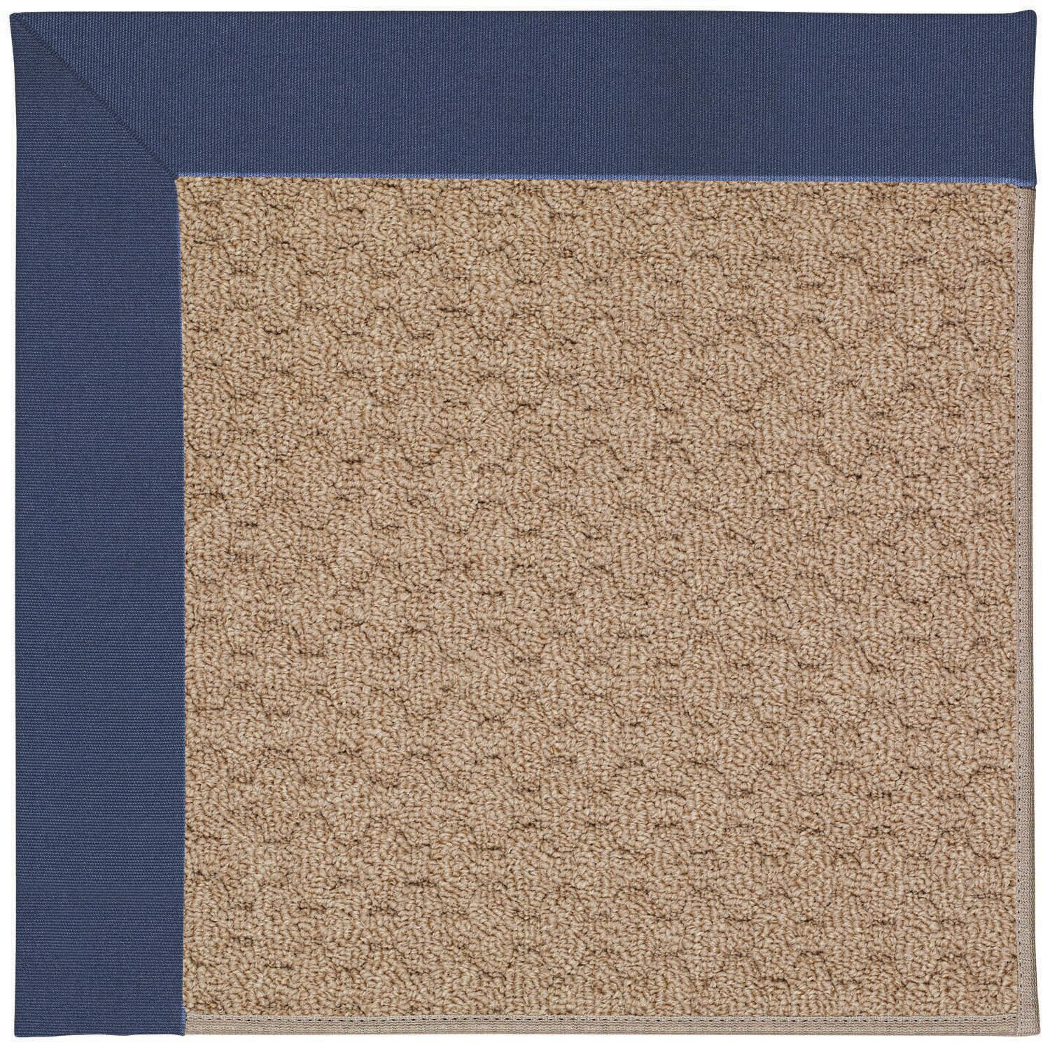 Lisle Machine Tufted Blue/Brown Indoor/Outdoor Area Rug Rug Size: Square 6'
