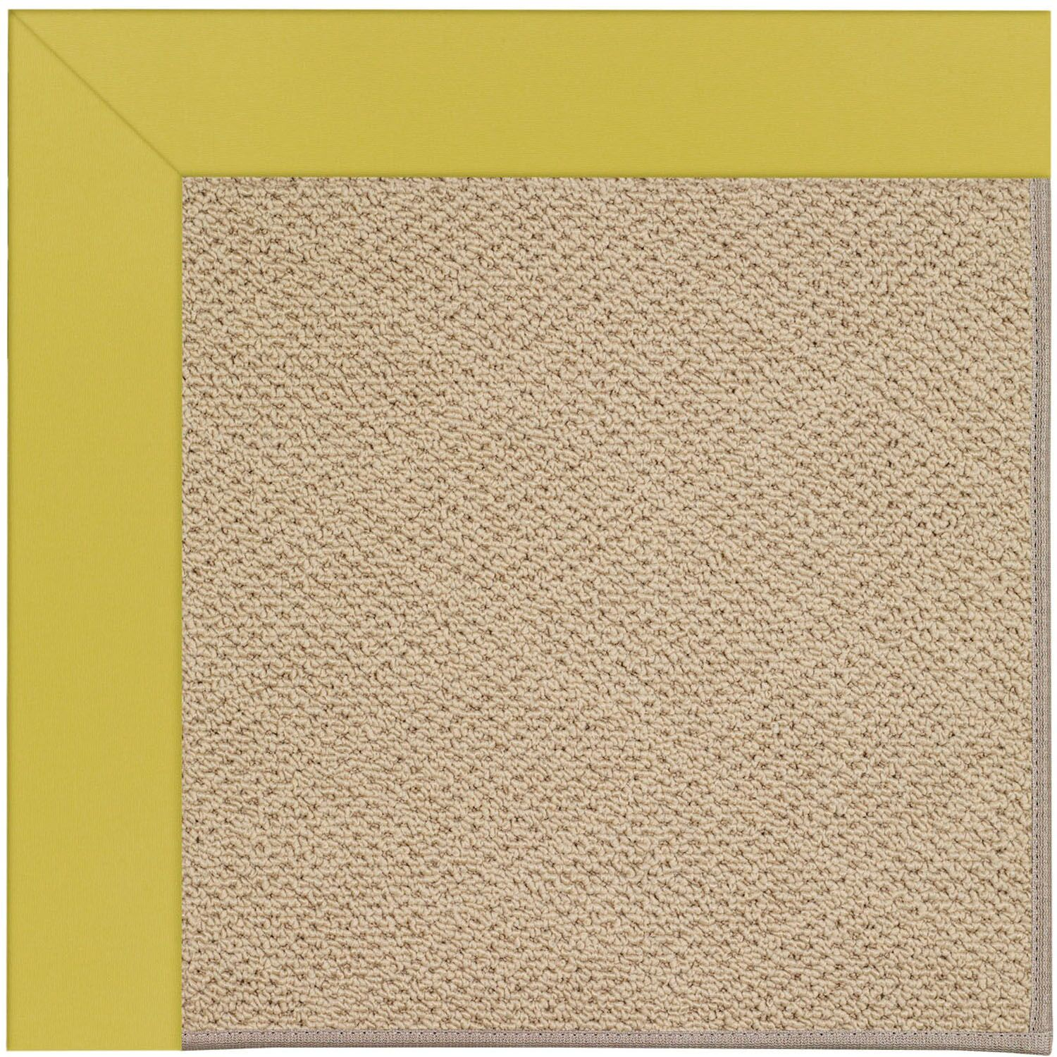 Lisle Machine Tufted Citronella/Brown Indoor/Outdoor Area Rug Rug Size: Rectangle 12' x 15'