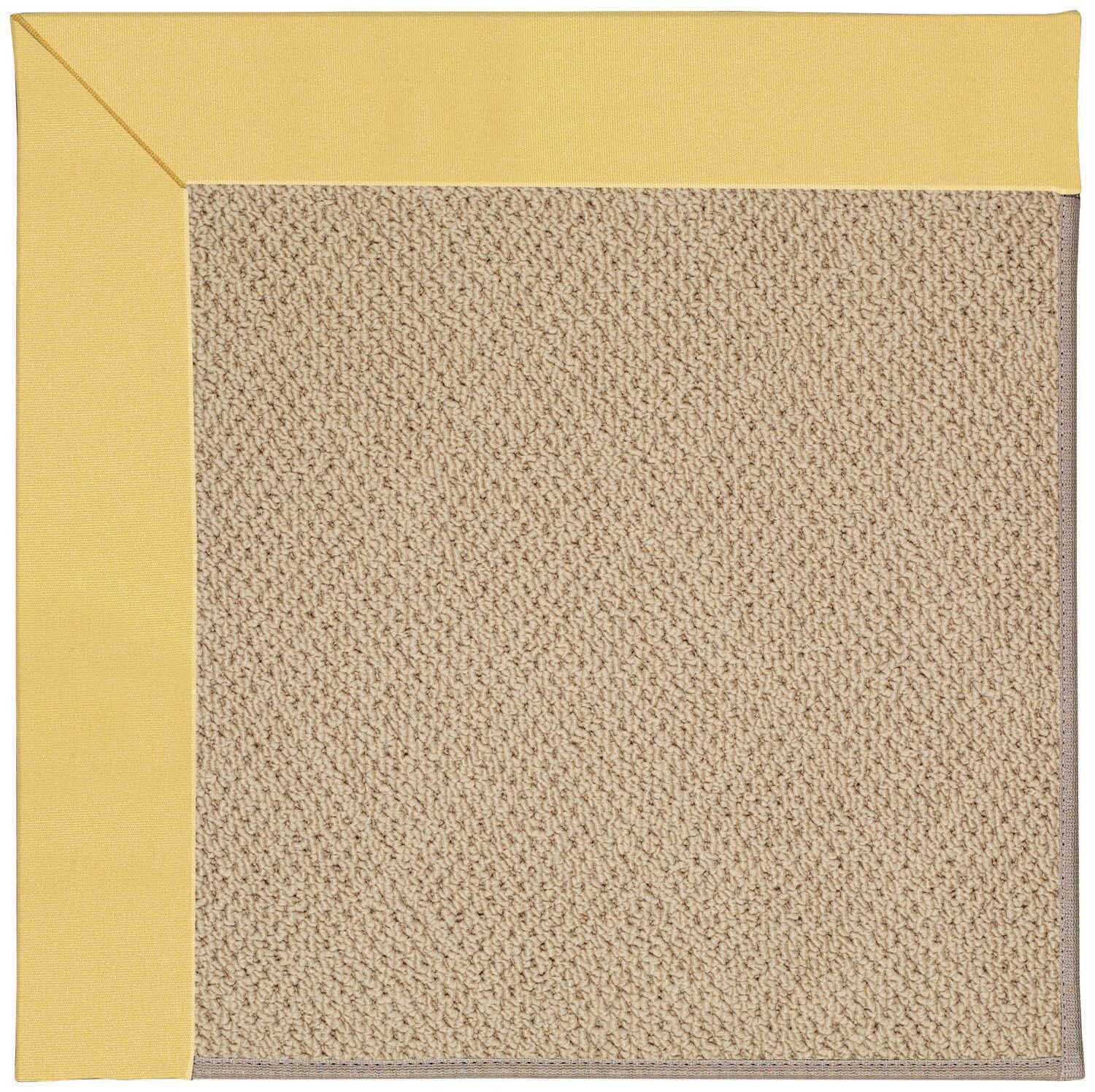 Lisle Machine Tufted Lemon and Beige Indoor/Outdoor Area Rug Rug Size: Rectangle 8' x 10'