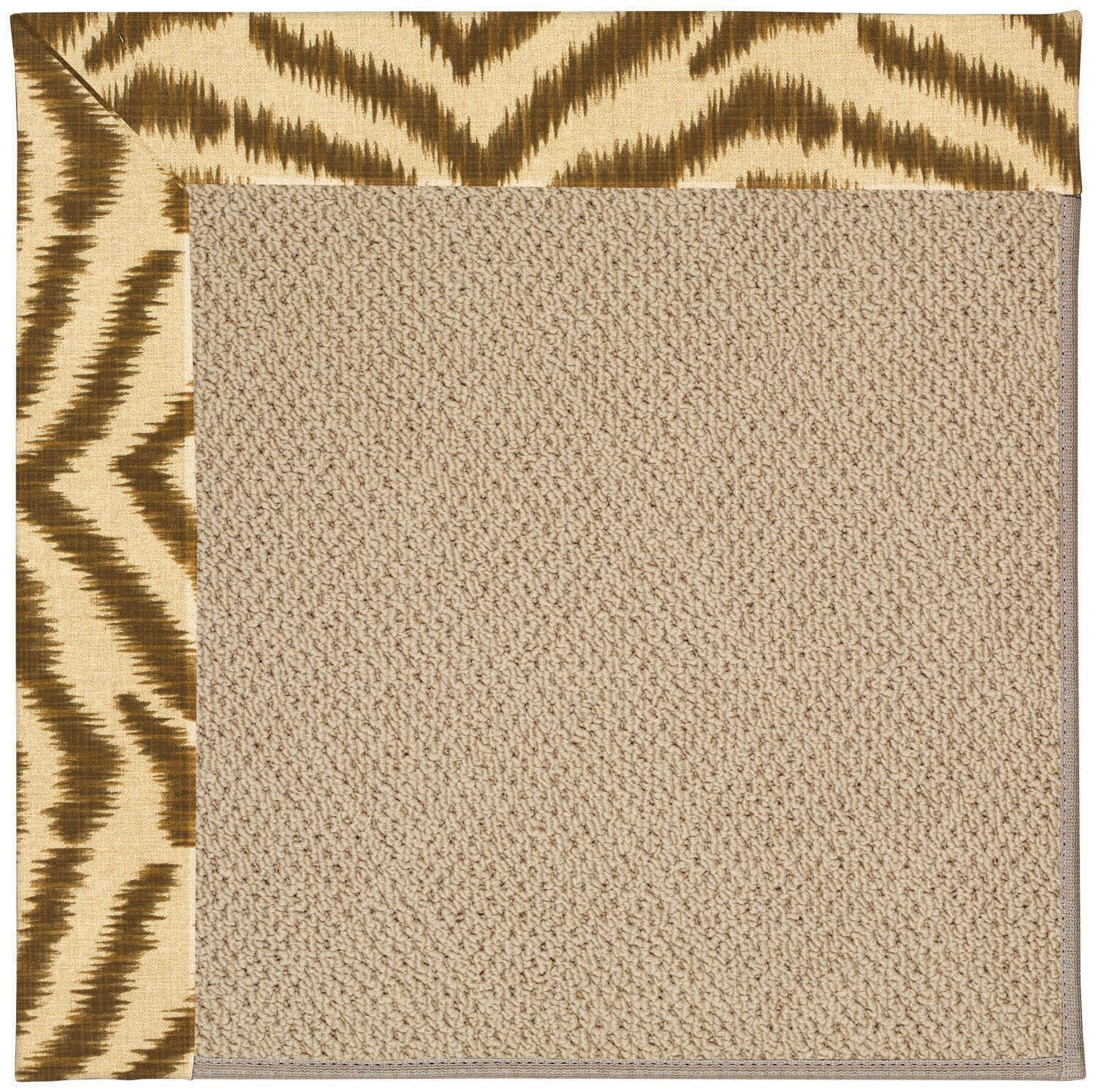 Lisle Machine Tufted Tawny and Beige Indoor/Outdoor Area Rug Rug Size: Rectangle 10' x 14'