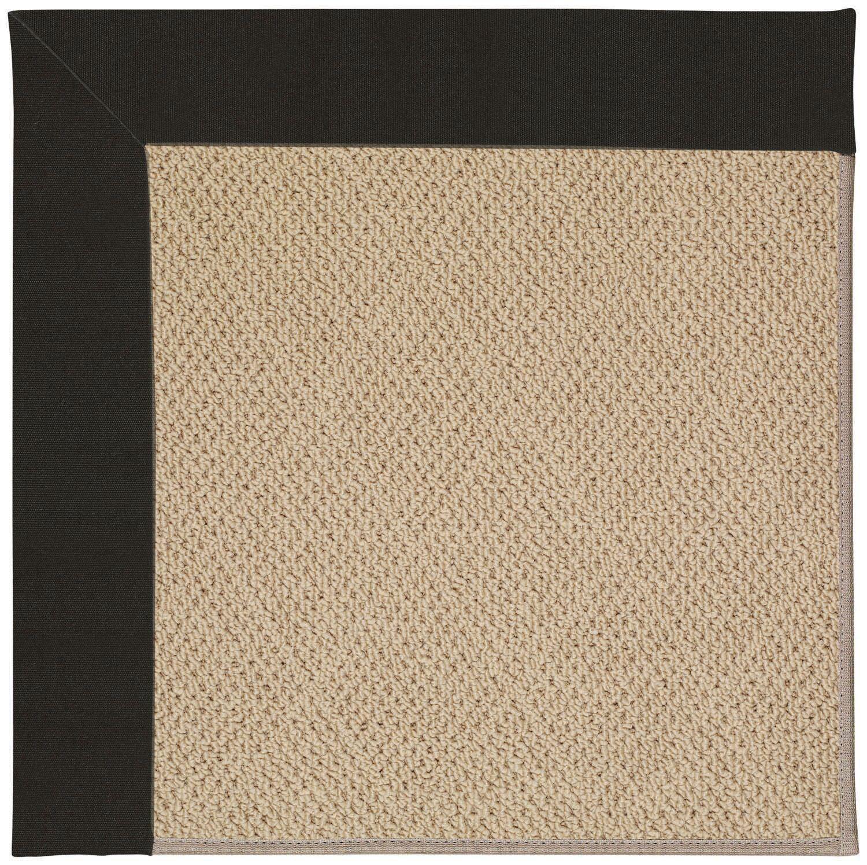 Lisle Machine Tufted Ebony/Brown Indoor/Outdoor Area Rug Rug Size: Rectangle 3' x 5'