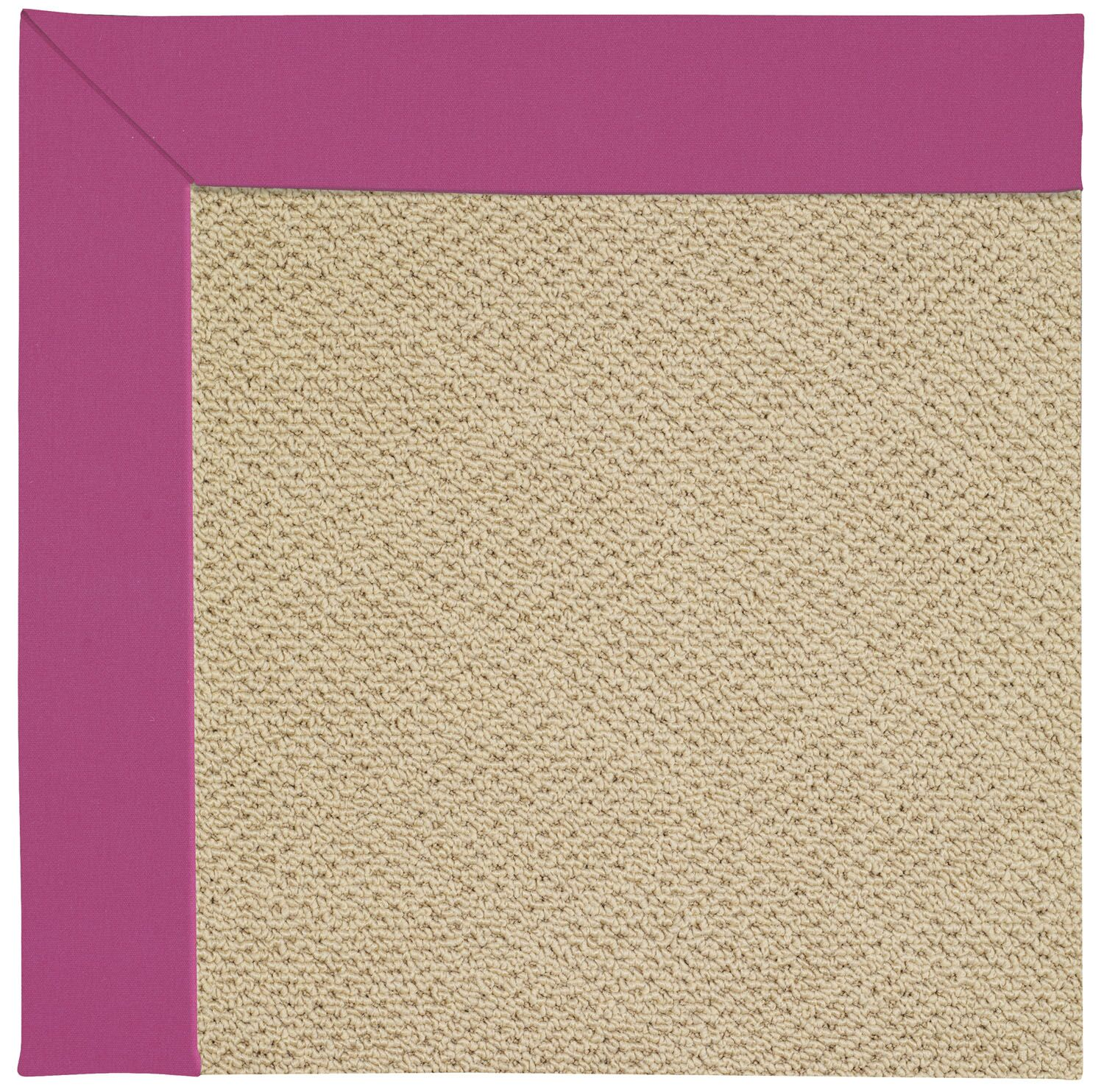Lisle Machine Tufted Fuchsia/Beige Indoor/Outdoor Area Rug Rug Size: Square 4'