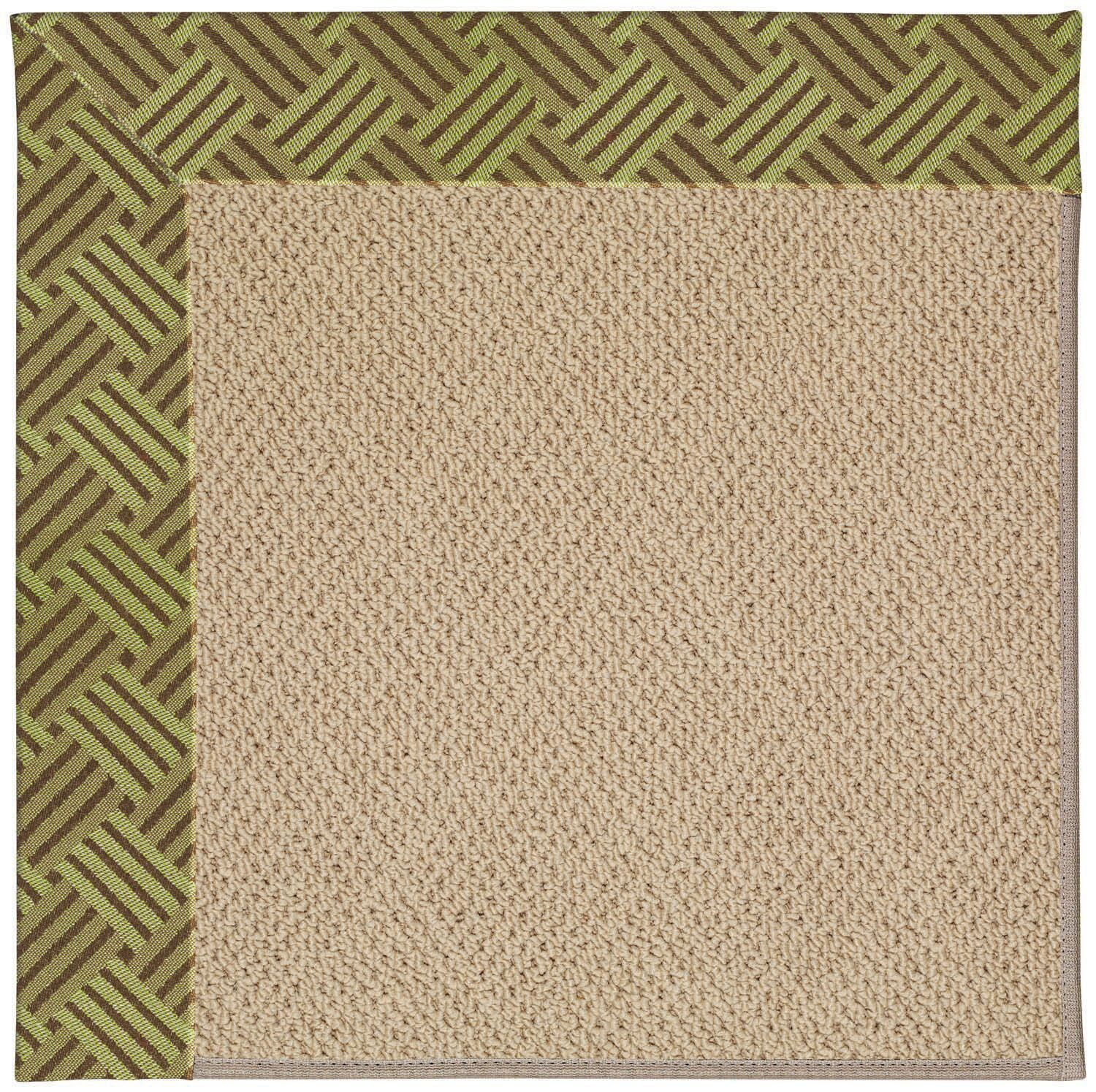 Lisle Machine Tufted Mossy Green/Brown Indoor/Outdoor Area Rug Rug Size: Rectangle 2' x 3'
