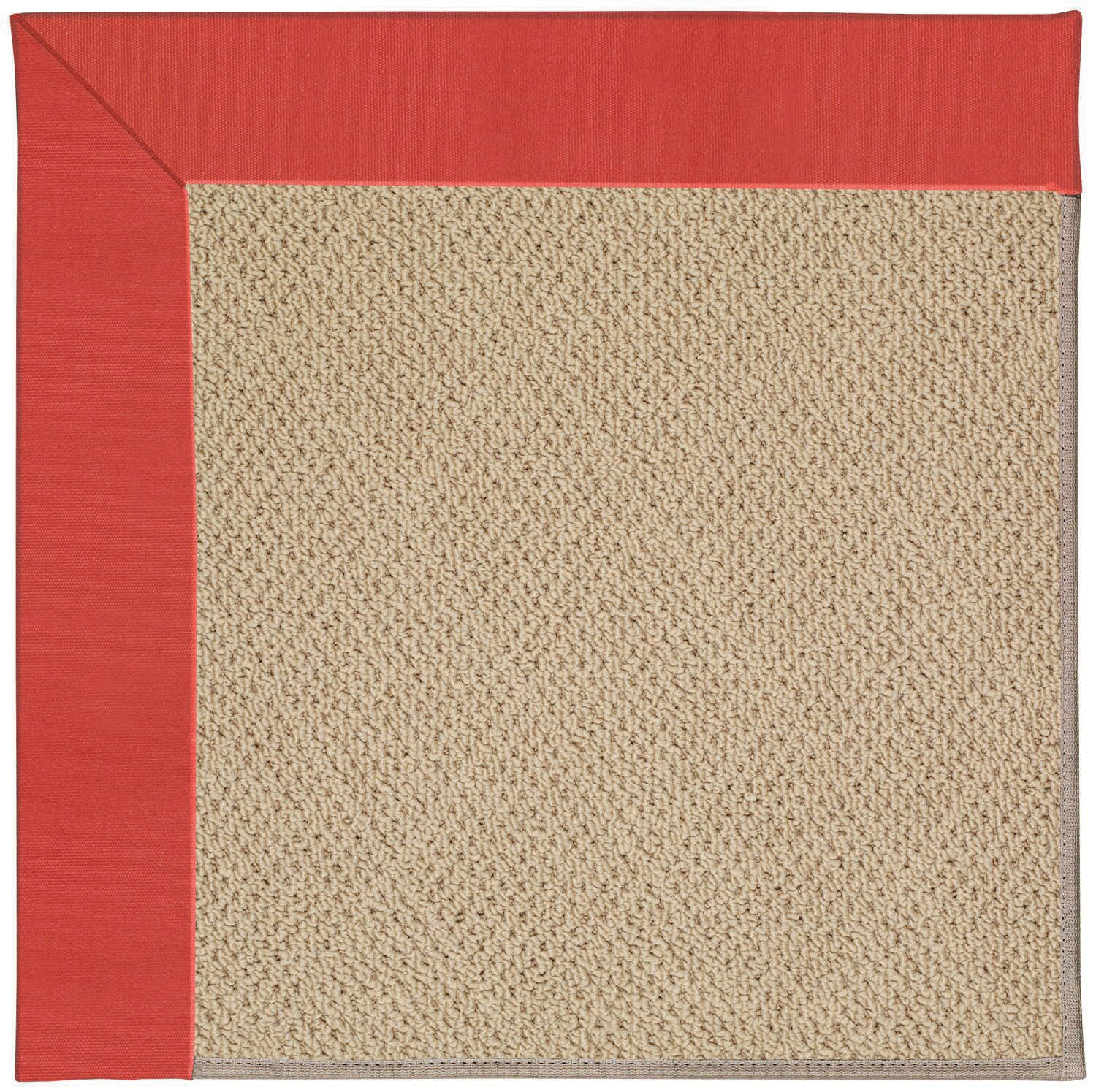 Lisle Machine Tufted Sunset Red/Brown Indoor/Outdoor Area Rug Rug Size: Square 4'