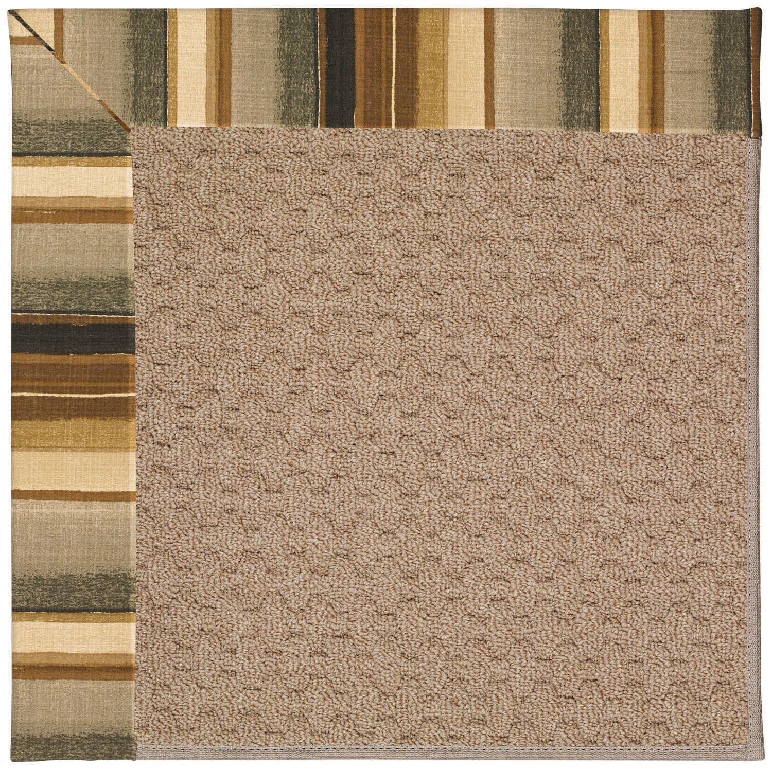 Lisle Machine Tufted Cinders/Brown Indoor/Outdoor Area Rug Rug Size: Round 12'