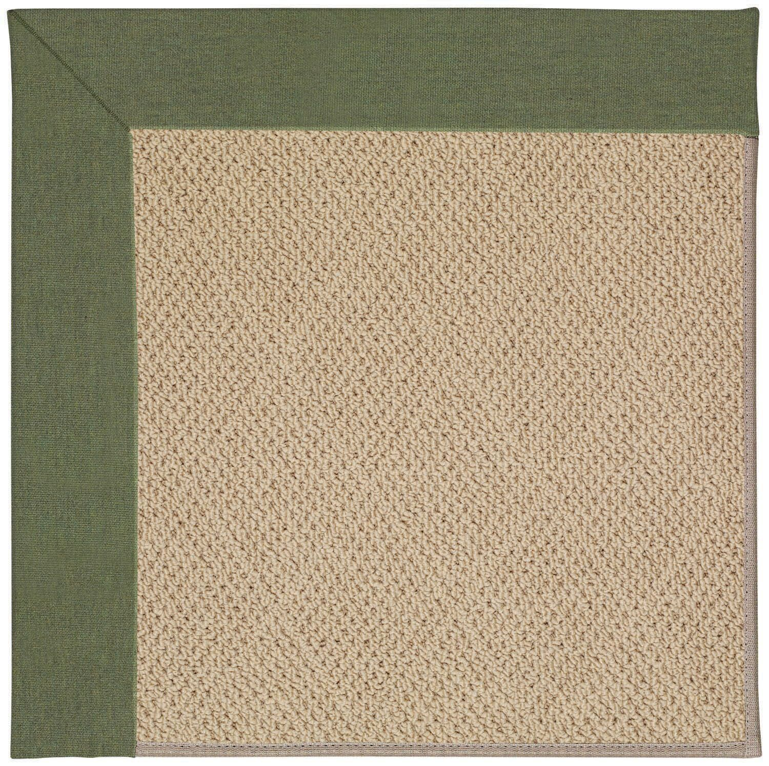 Lisle Machine Tufted Plant Green and Beige Indoor/Outdoor Area Rug Rug Size: Square 4'