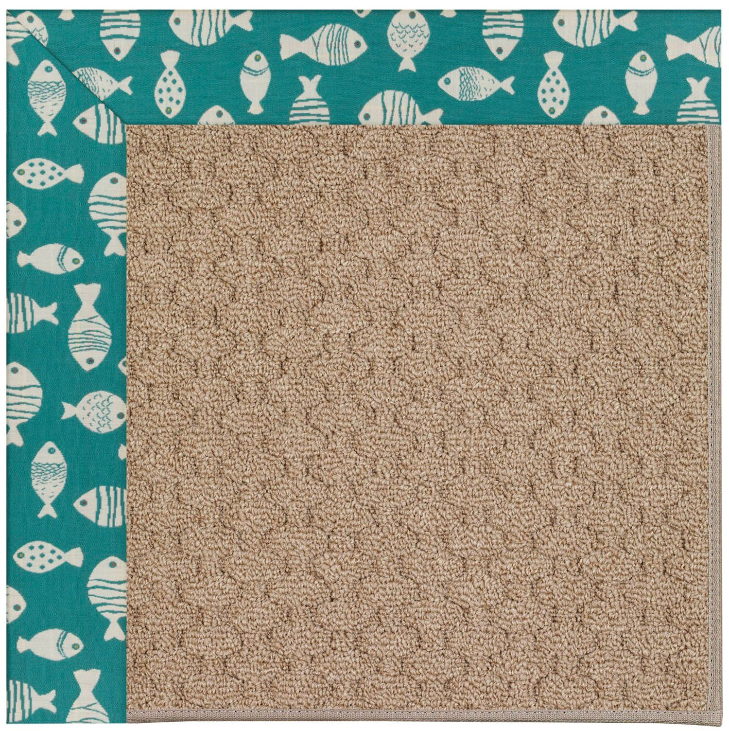 Lisle Machine Tufted Green/Brown Indoor/Outdoor Area Rug Rug Size: Rectangle 12' x 15'