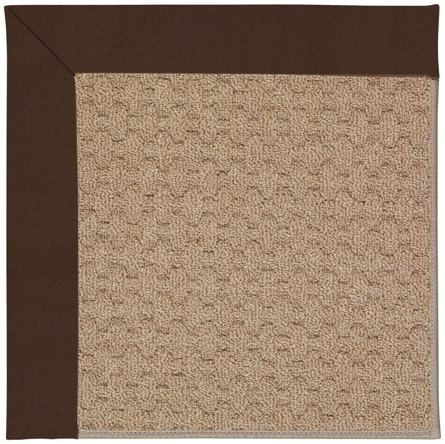 Lisle Machine Tufted Dark Chocolate/Brown Indoor/Outdoor Area Rug Rug Size: Rectangle 5' x 8'