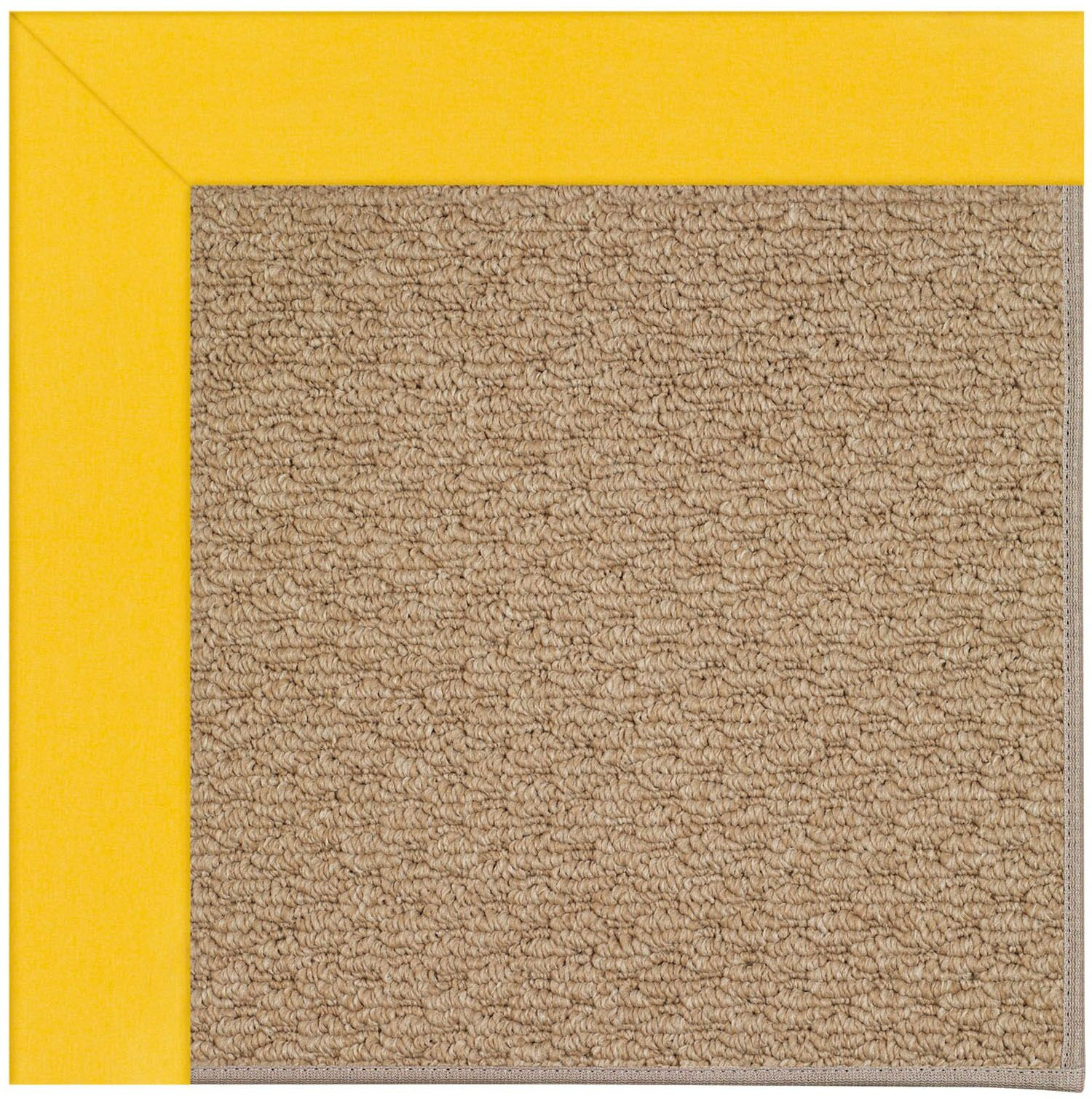 Lisle Machine Tufted Summertime Yellow/Brown Indoor/Outdoor Area Rug Rug Size: Square 4'