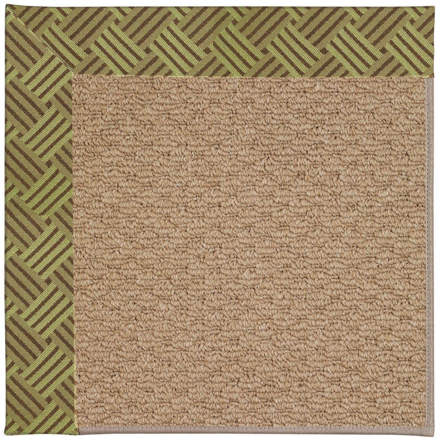 Lisle Machine Tufted Mossy Green and Beige Indoor/Outdoor Area Rug Rug Size: Round 12' x 12'