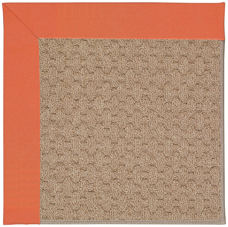 Lisle Machine Tufted Sorrel/Brown Indoor/Outdoor Area Rug Rug Size: Square 6'
