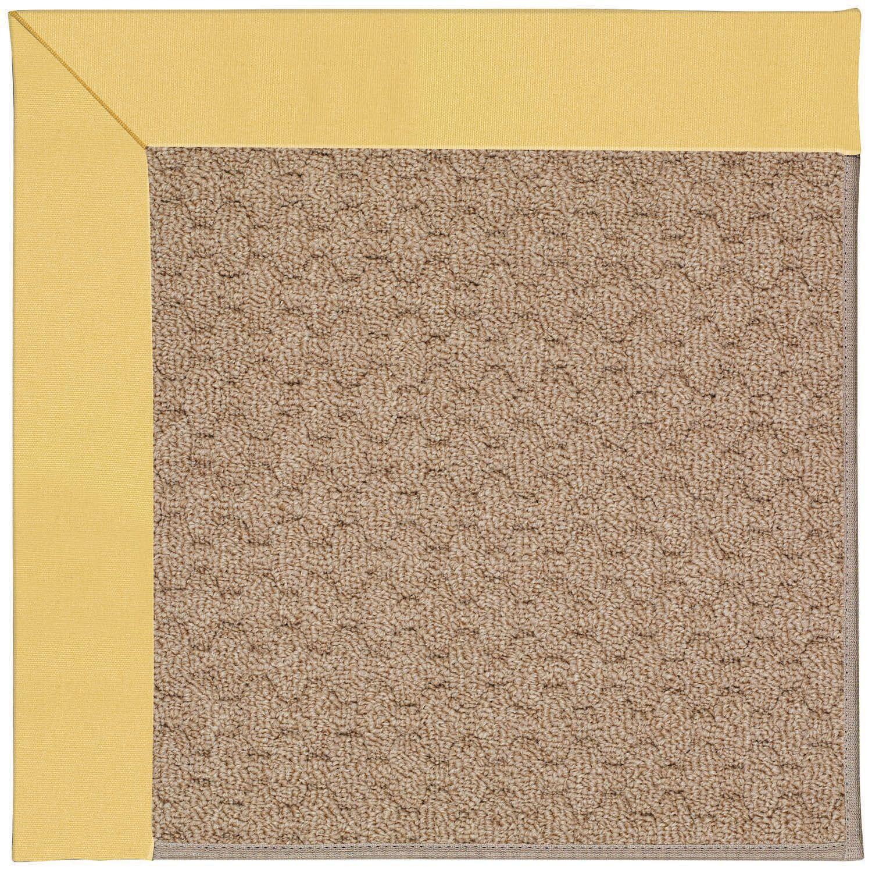 Lisle Machine Tufted Lemon/Brown Indoor/Outdoor Area Rug Rug Size: Rectangle 12' x 15'
