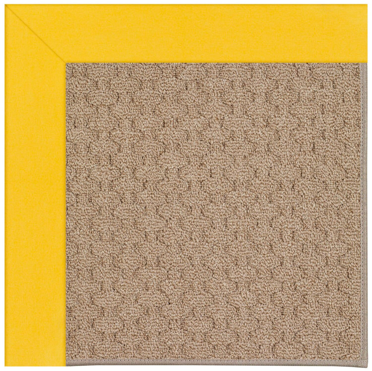 Lisle Machine Tufted Summertime Yellow/Brown Indoor/Outdoor Area Rug Rug Size: Rectangle 9' x 12'