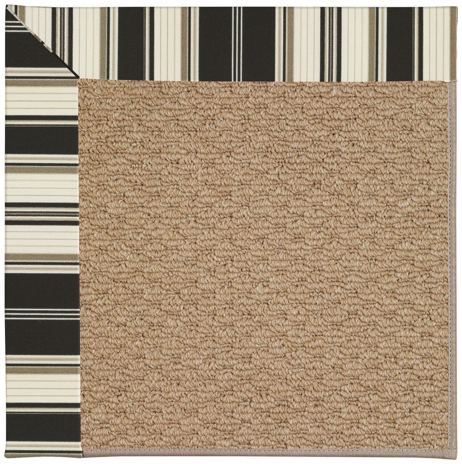 Lisle Machine Tufted Onyx/Brown Indoor/Outdoor Area Rug Rug Size: Square 8'