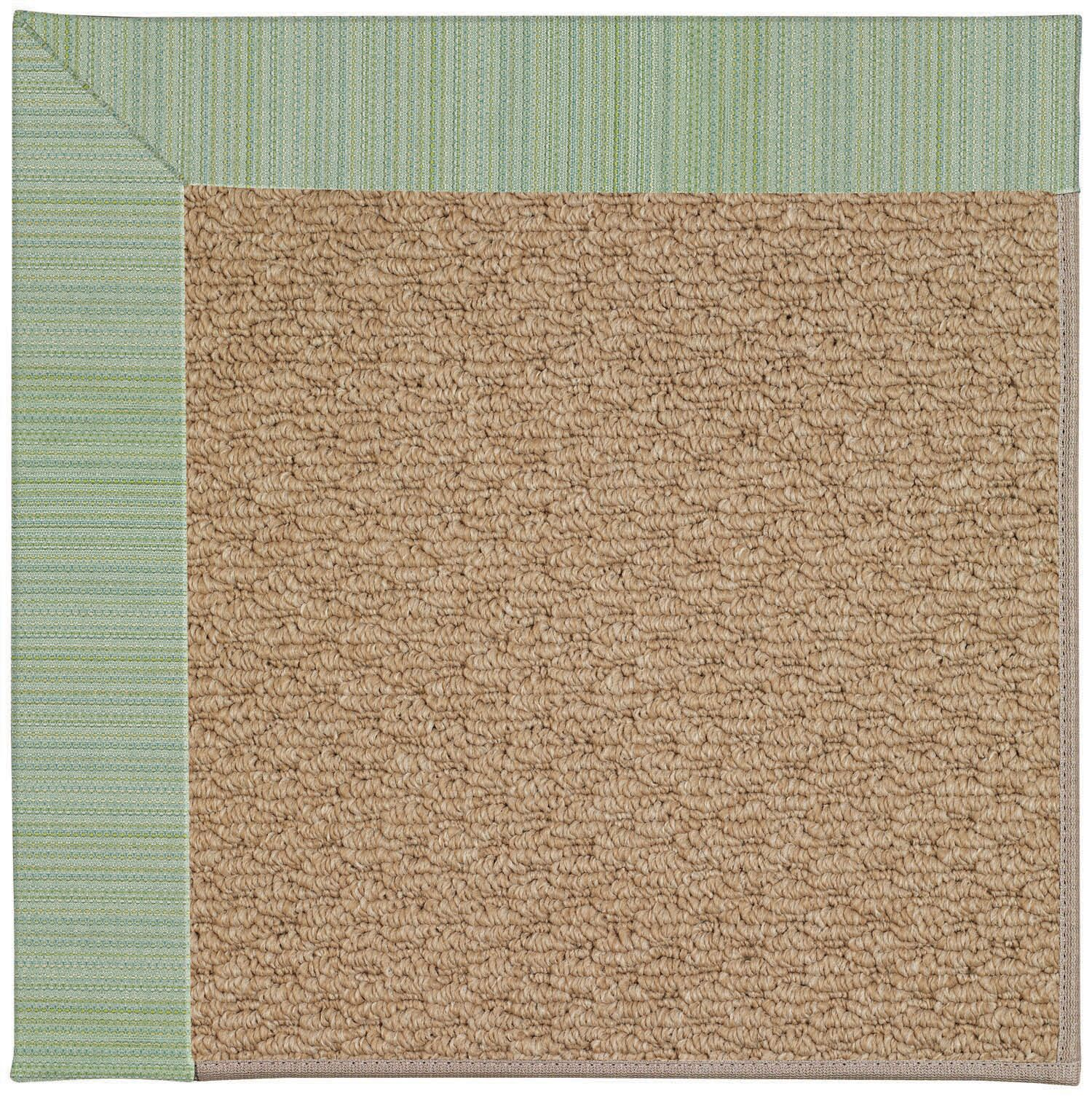 Lisle Machine Woven Green/Brown Indoor/Outdoor Area Rug Rug Size: Rectangle 9' x 12'