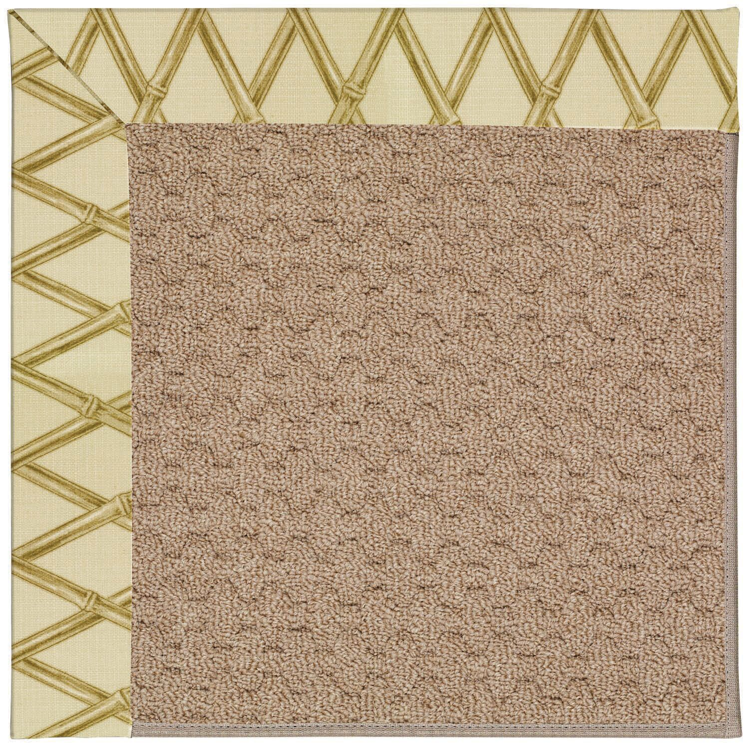 Lisle Machine Tufted Bamboo and Beige Indoor/Outdoor Area Rug Rug Size: Square 6'