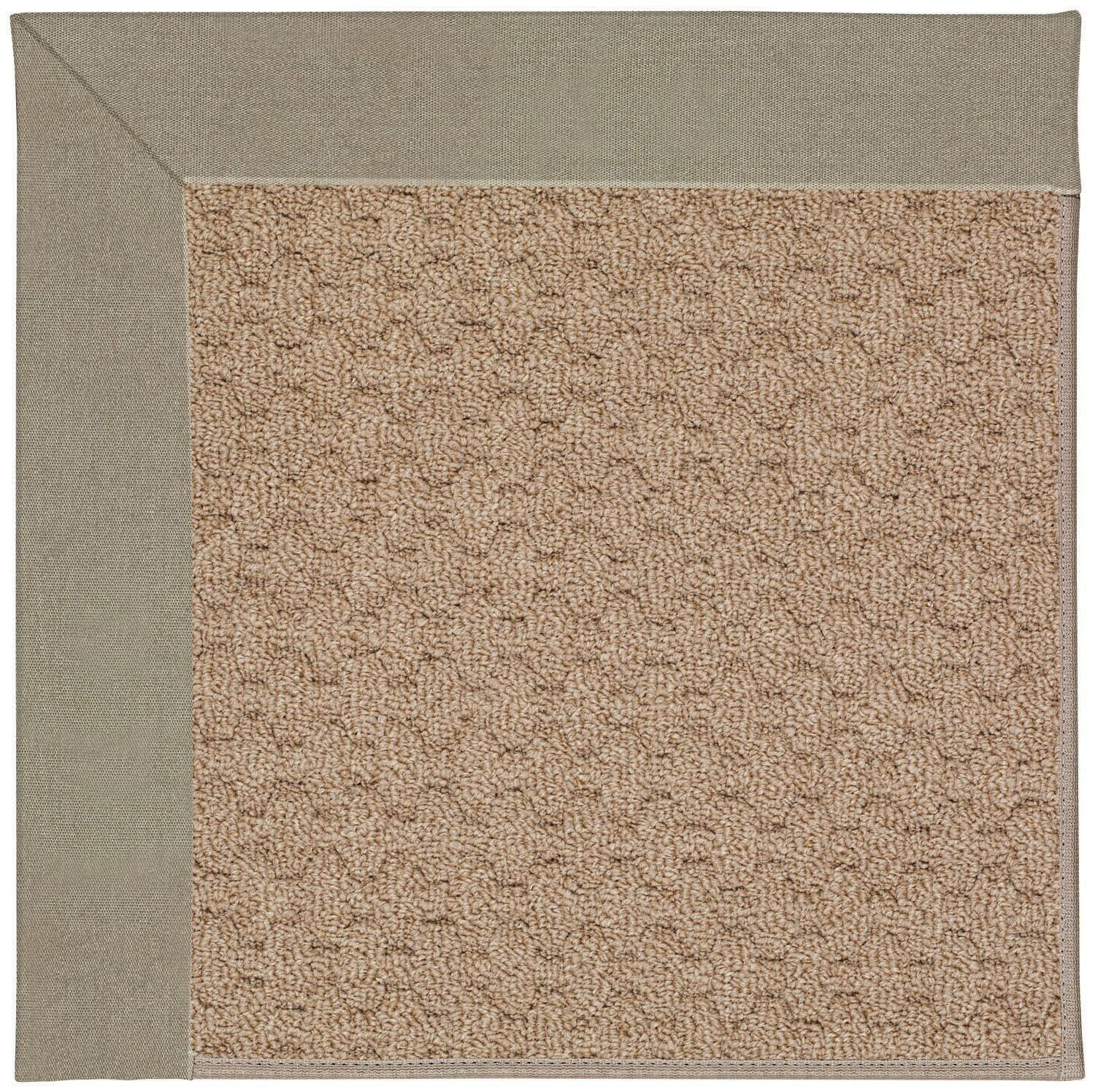 Lisle Machine Tufted Buff/Brown Indoor/Outdoor Area Rug Rug Size: Square 6'