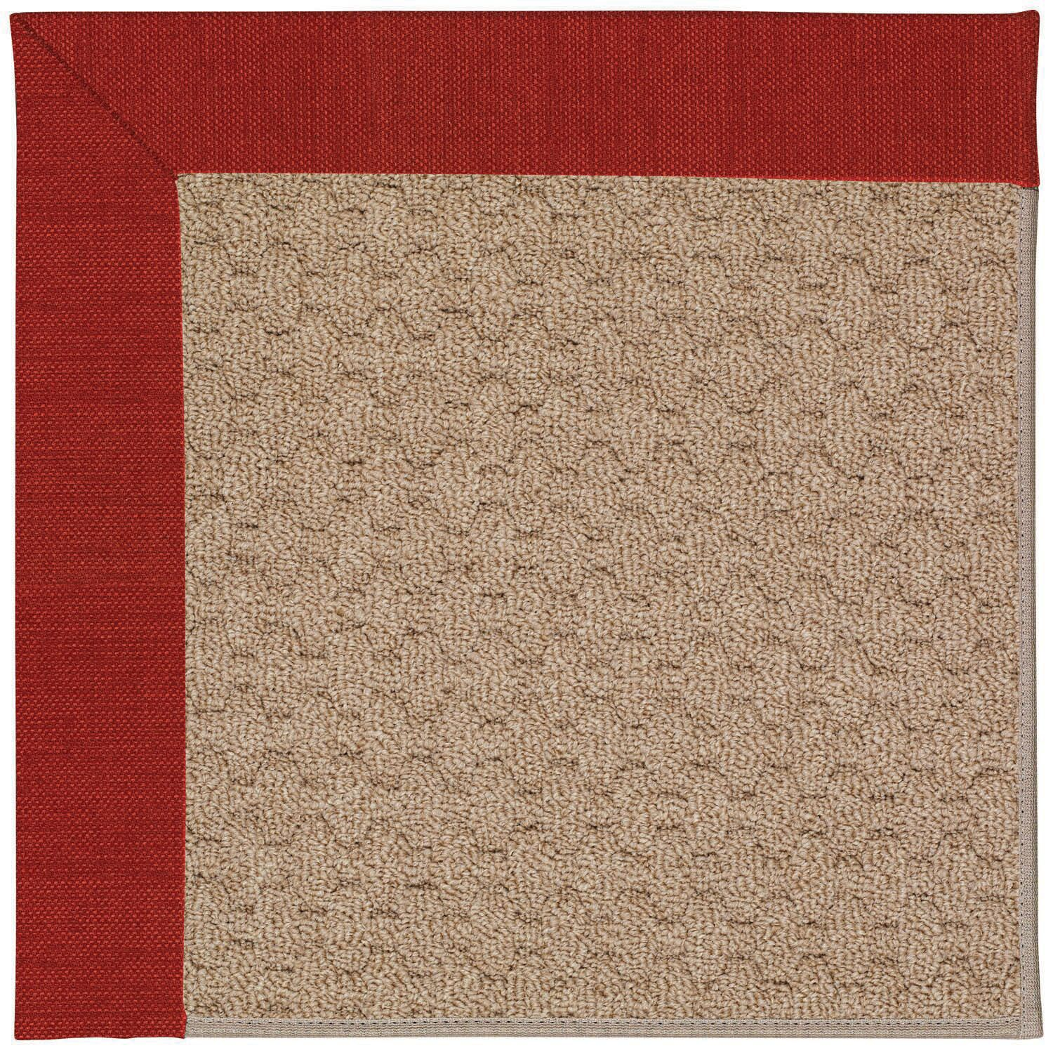 Lisle Machine Tufted Tomatoes/Brown Indoor/Outdoor Area Rug Rug Size: Square 4'