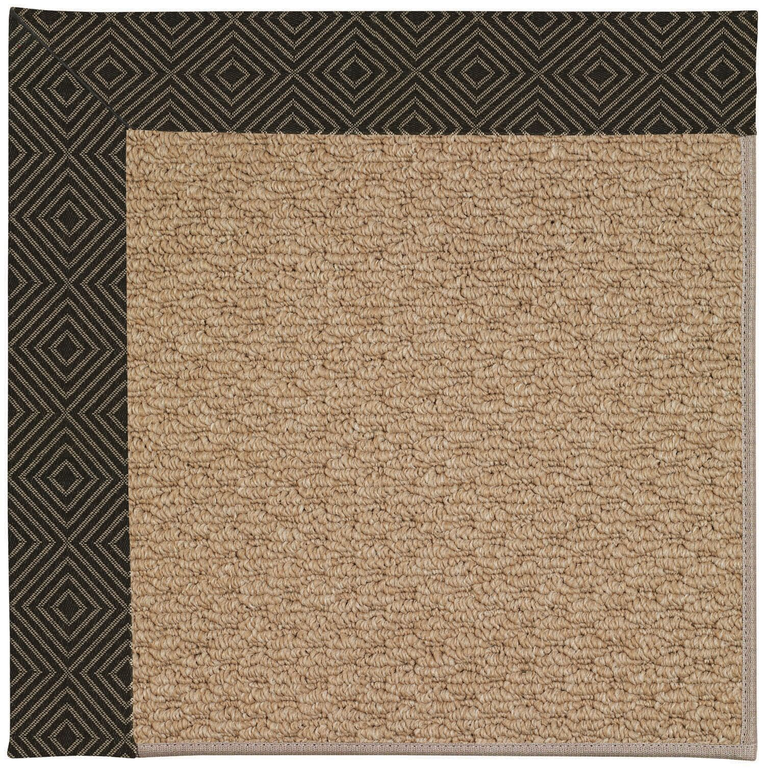 Lisle Machine Tufted Magma/Brown Indoor/Outdoor Area Rug Rug Size: Square 6'