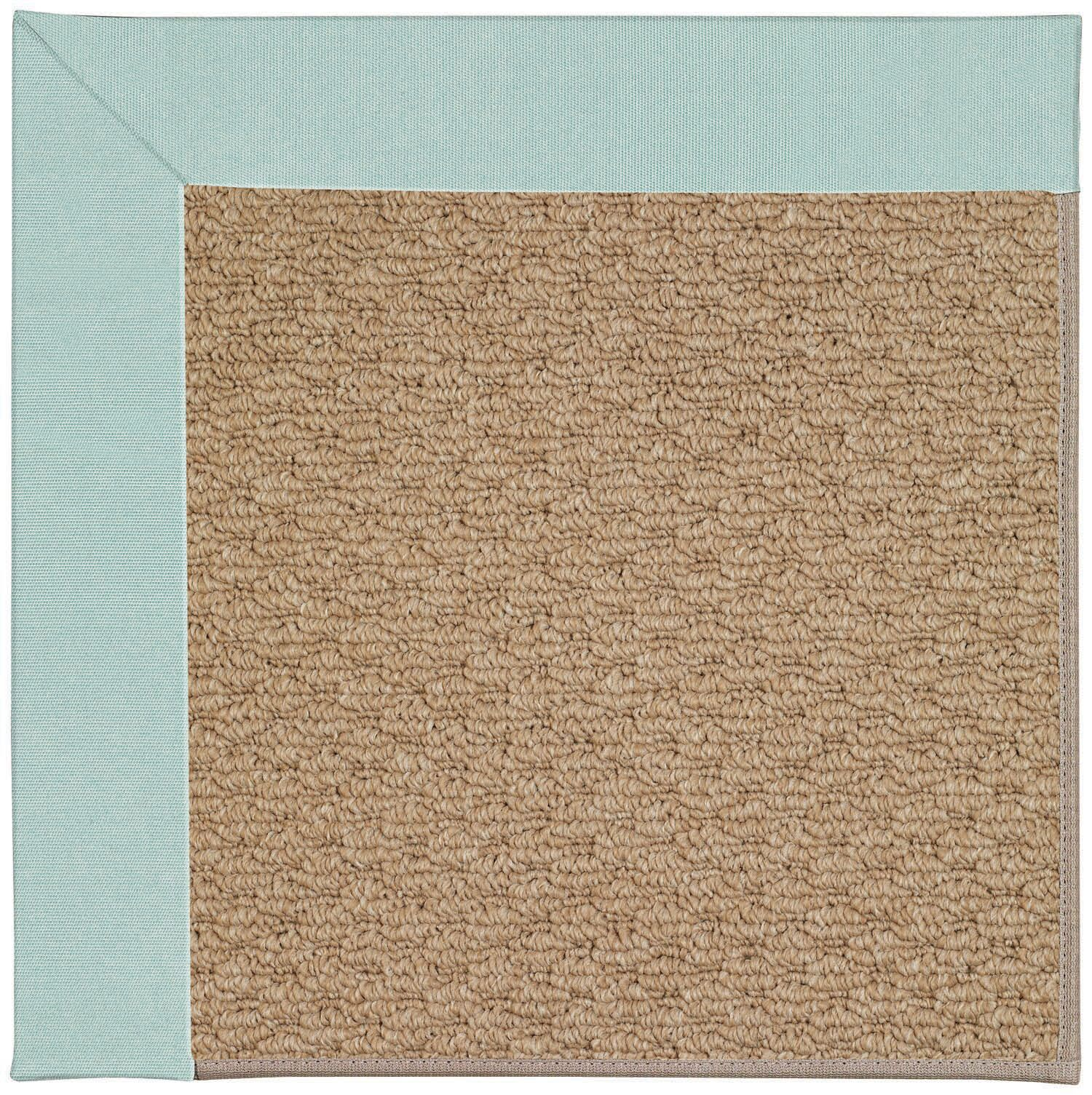 Lisle Machine Tufted Iceberg/Brown Indoor/Outdoor Area Rug Rug Size: Square 4'