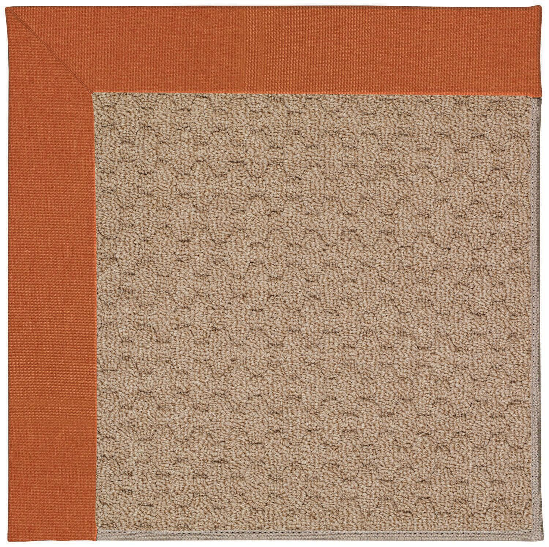 Lisle Machine Tufted Orange/Brown Indoor/Outdoor Area Rug Rug Size: Square 8'