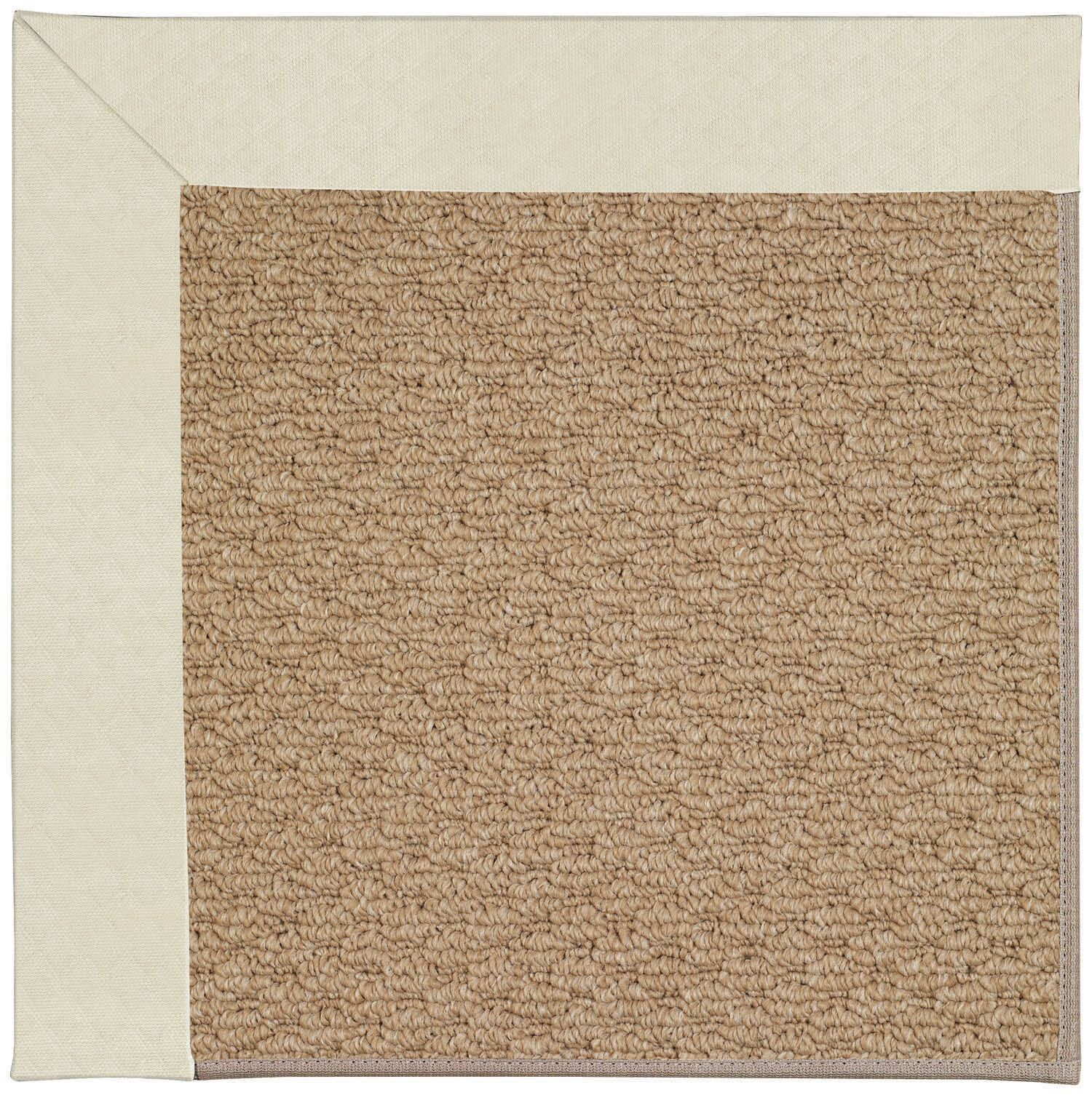 Lisle Machine Tufted Cream/Brown Indoor/Outdoor Area Rug Rug Size: Rectangle 4' x 6'