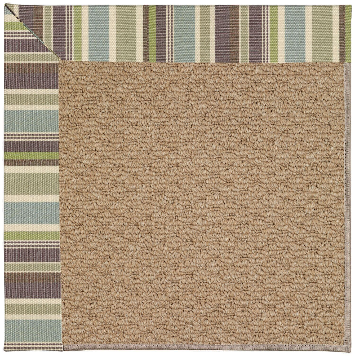 Lisle Machine Tufted Multi-colored/Brown Indoor/Outdoor Area Rug Rug Size: Rectangle 4' x 6'