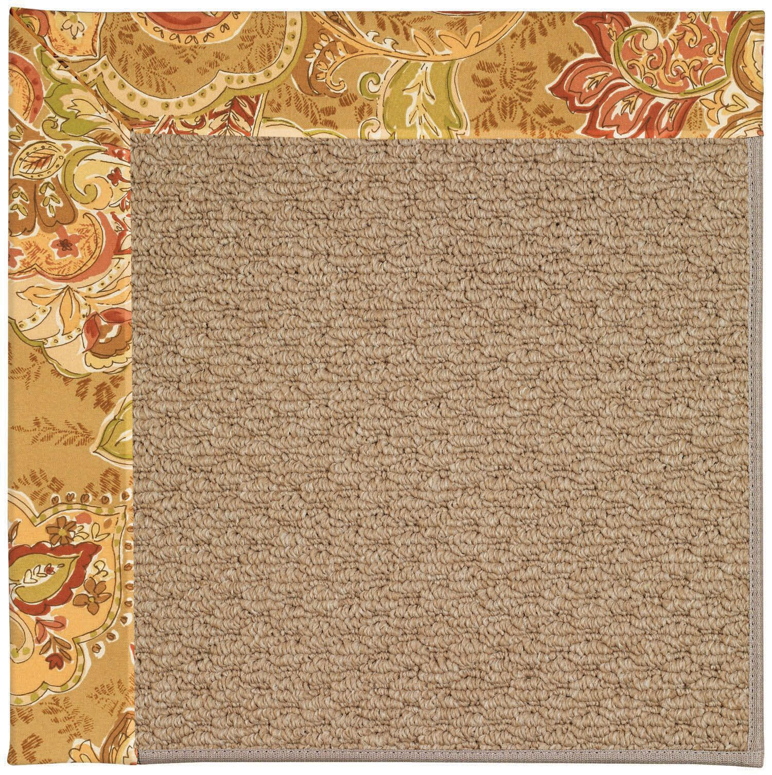 Lisle Machine Tufted Bronze Flowers/Brown Indoor/Outdoor Area Rug Rug Size: Square 4'