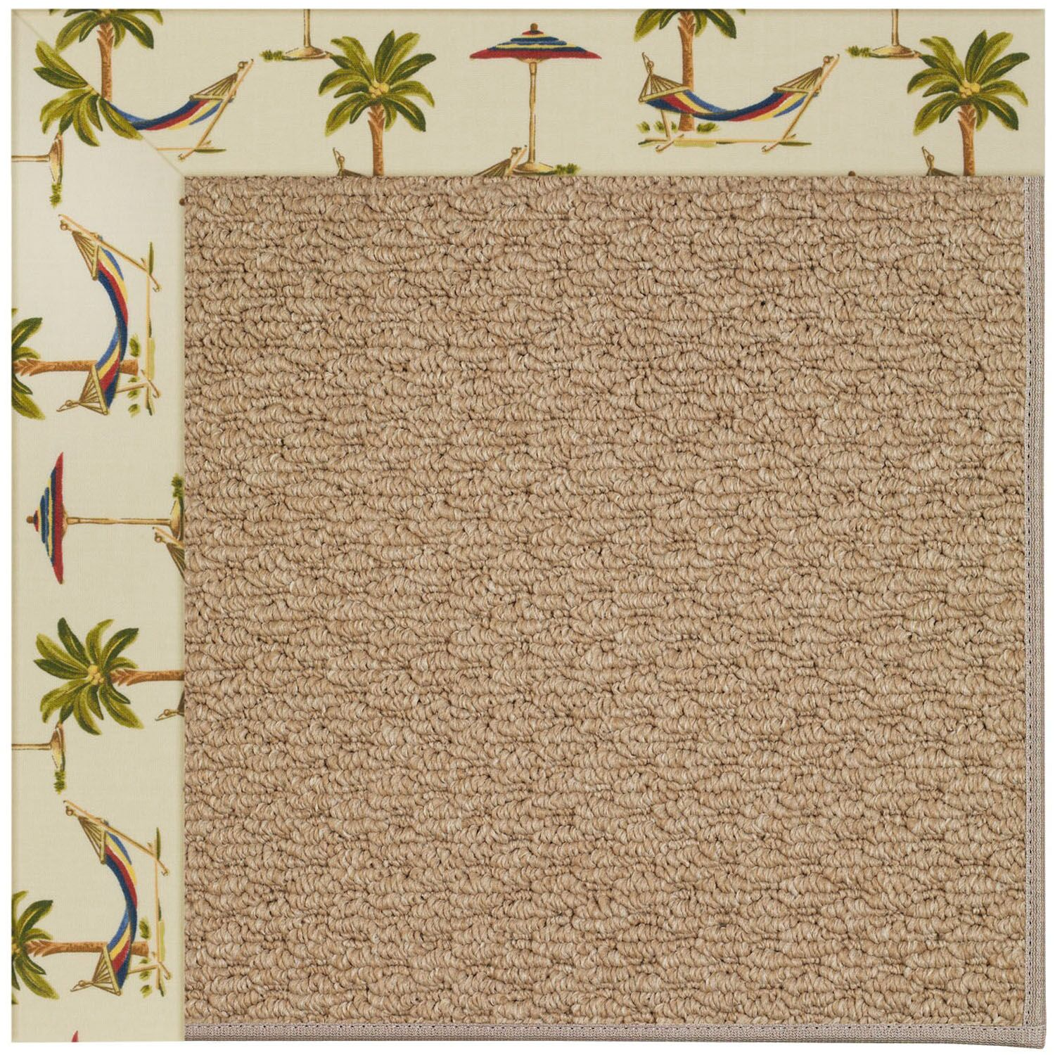 Lisle Machine Tufted Beige/Brown Indoor/Outdoor Area Rug Rug Size: Rectangle 3' x 5'