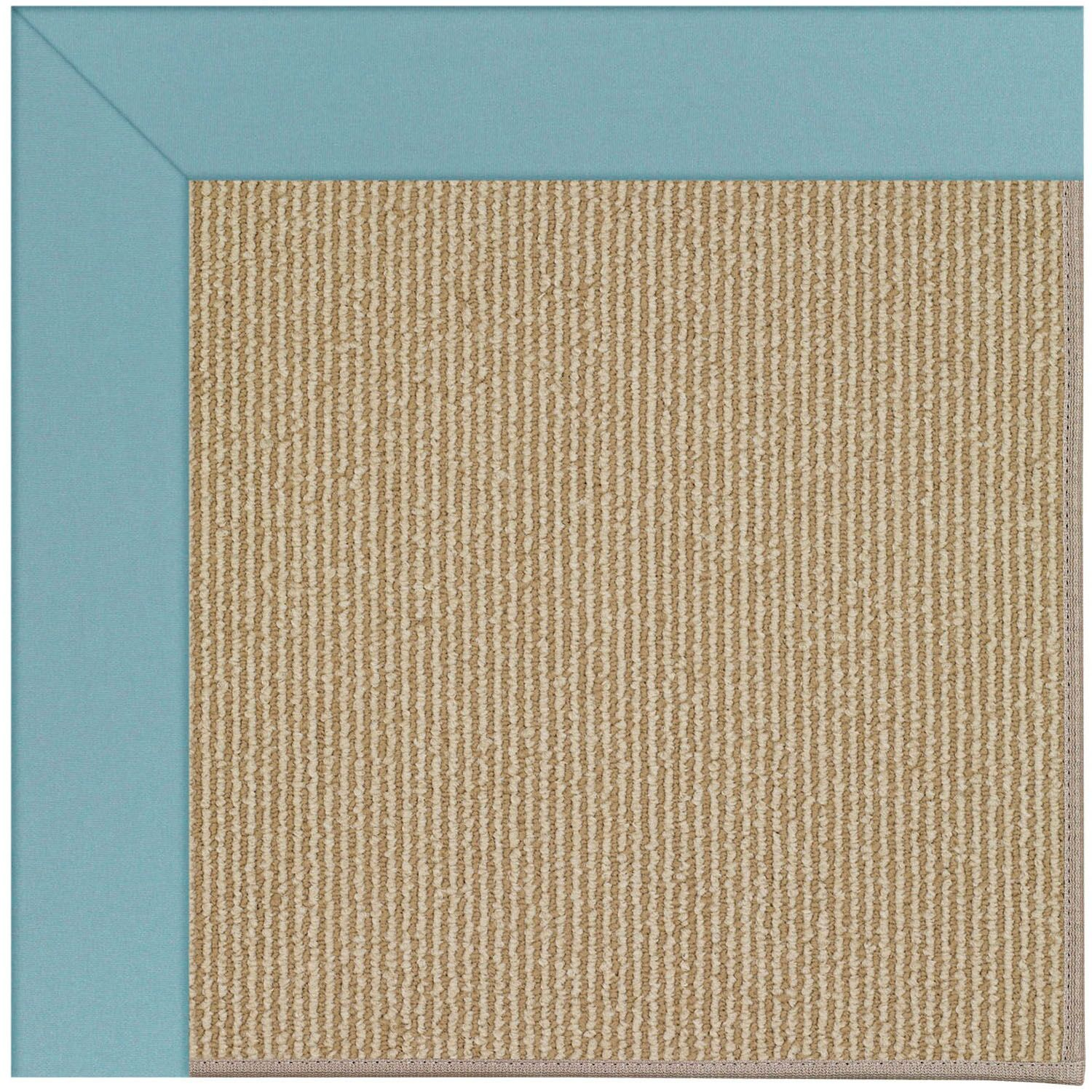 Lisle Machine Tufted Bright Blue/Brown Indoor/Outdoor Area Rug Rug Size: Square 10'