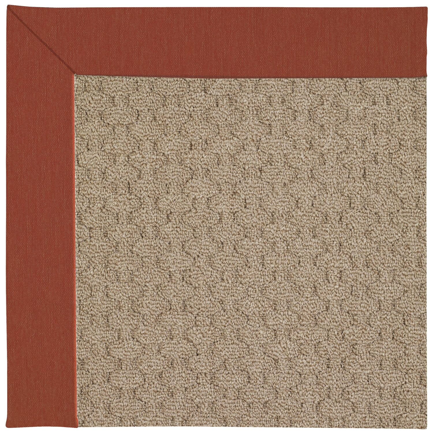 Lisle Machine Tufted Persimmon/Brown Indoor/Outdoor Area Rug Rug Size: Rectangle 3' x 5'